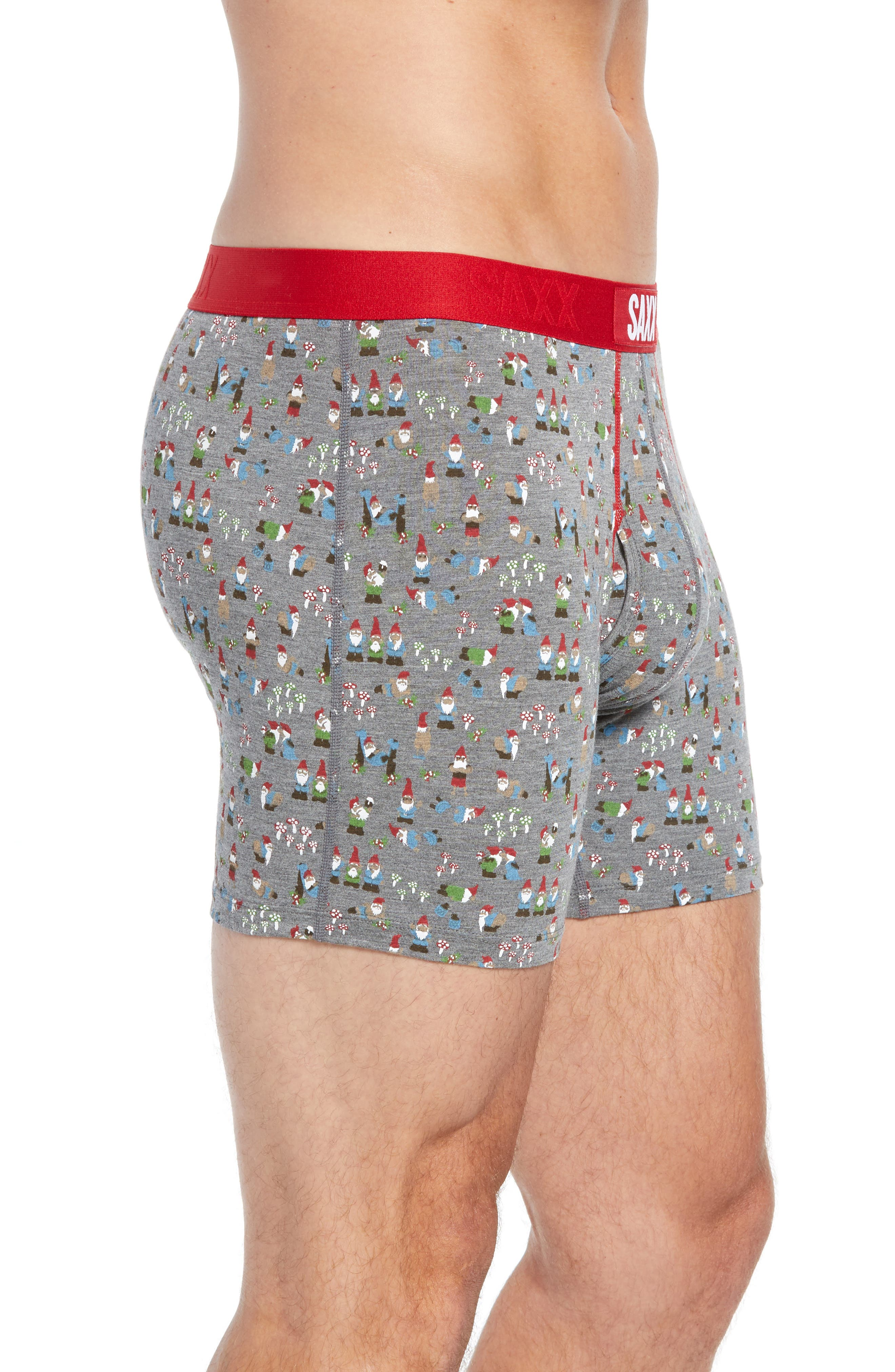 Ultra Naughty Gnomes Stretch Boxer Briefs,                             Alternate thumbnail 3, color,                             NAUGHTY GNOMES
