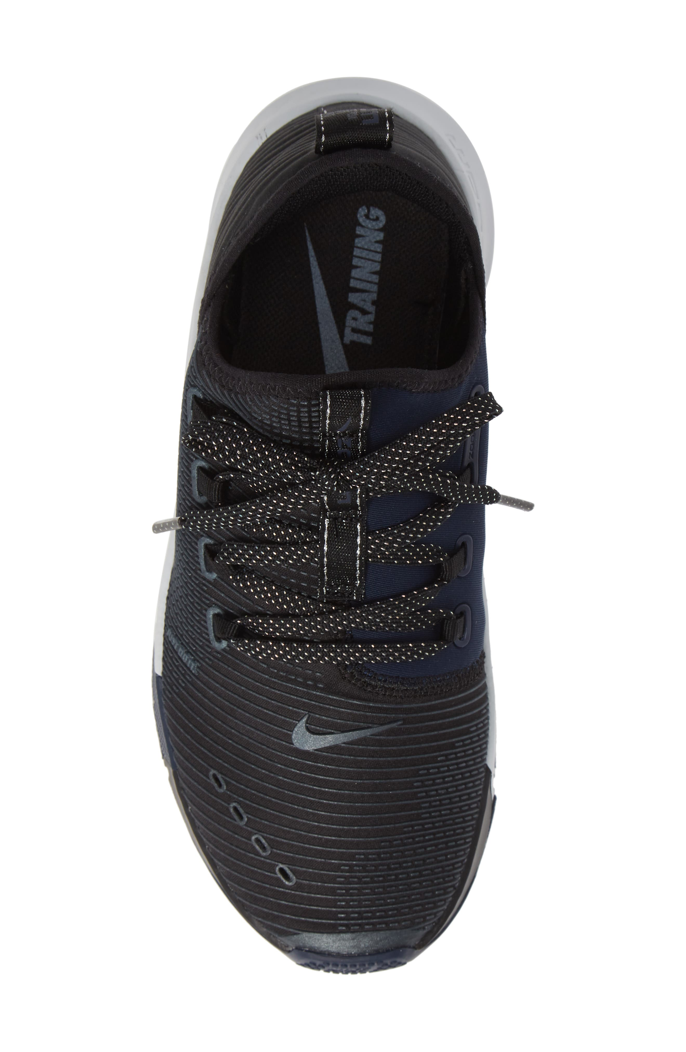 NIKE,                             Air Zoom Elevate Training Shoe,                             Alternate thumbnail 5, color,                             BLACK/ METALLIC NAVY- NAVY