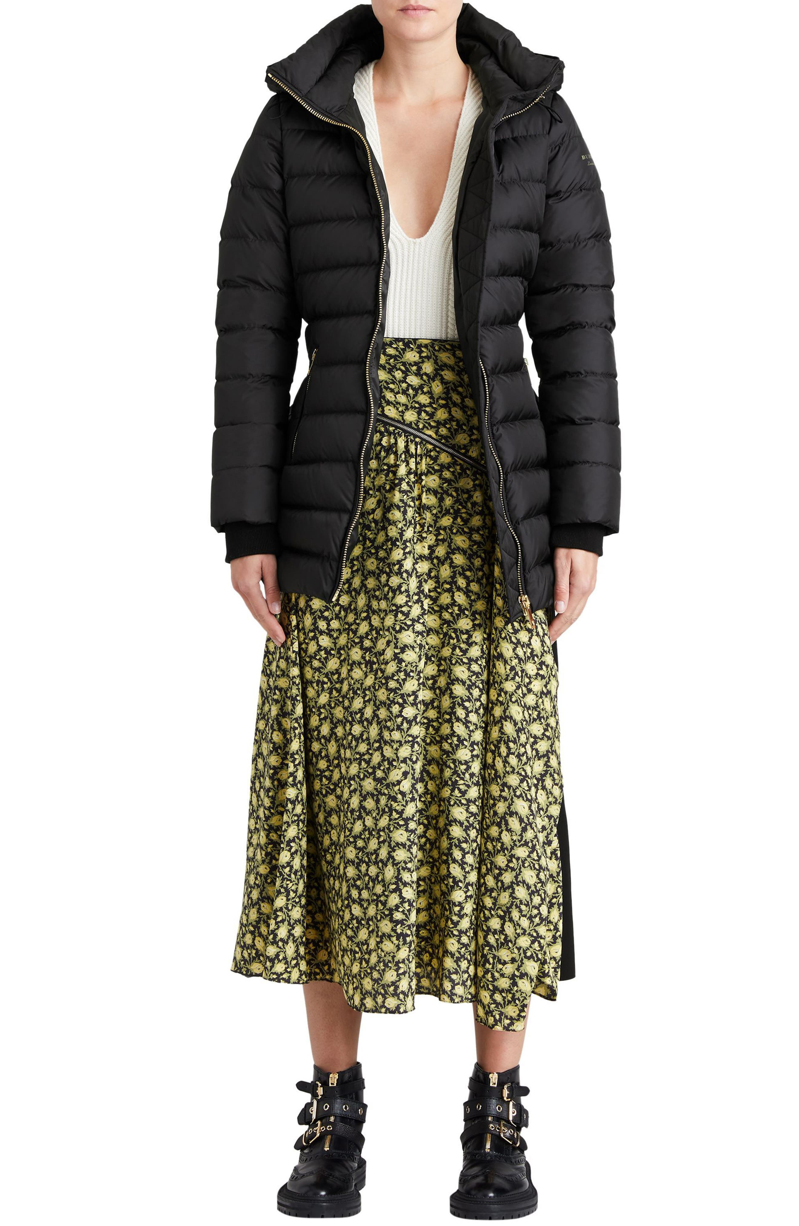 Limefield Hooded Puffer Coat,                             Alternate thumbnail 7, color,                             001