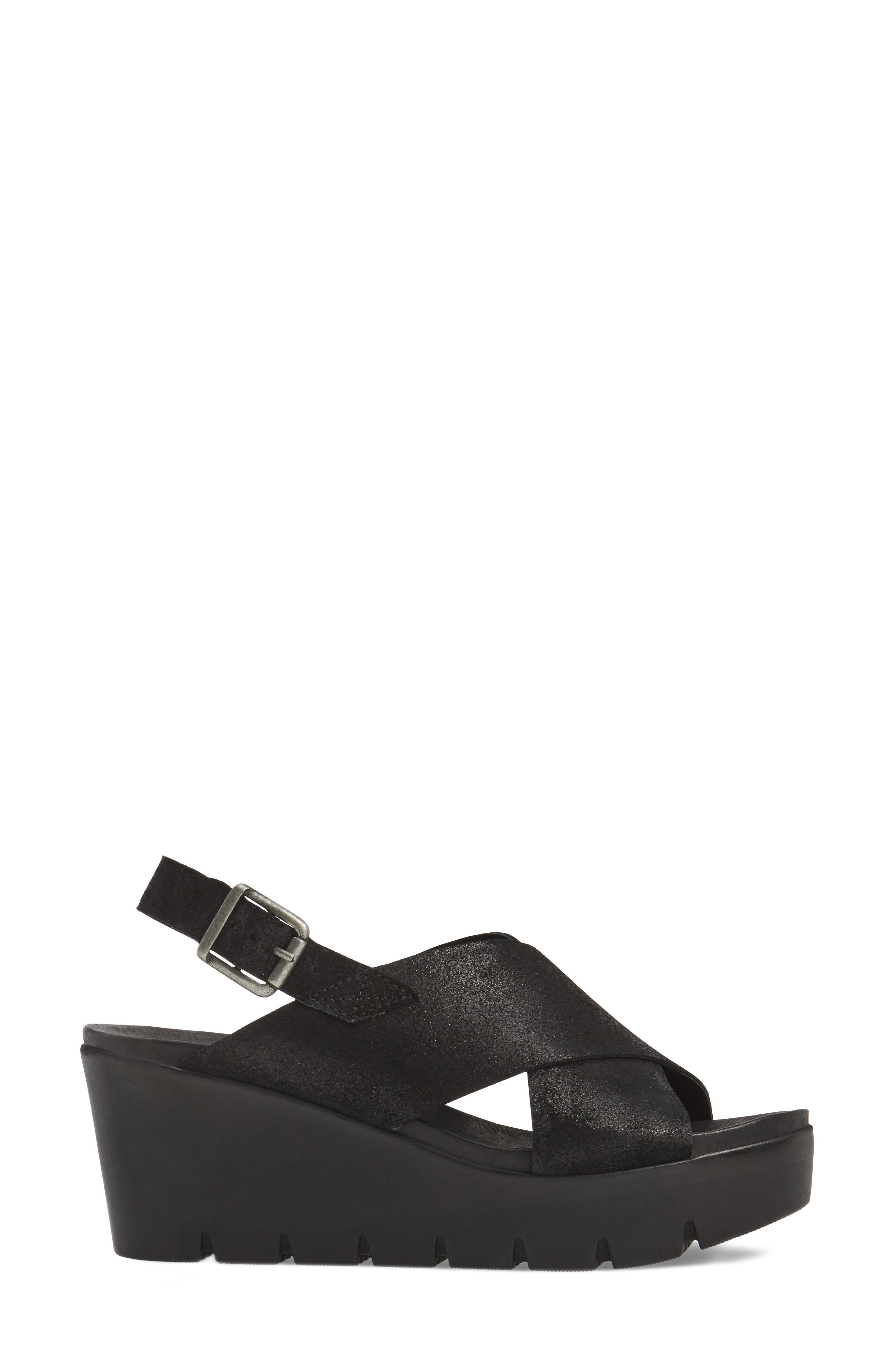 Payton Platform Wedge Sandal,                             Alternate thumbnail 3, color,                             001