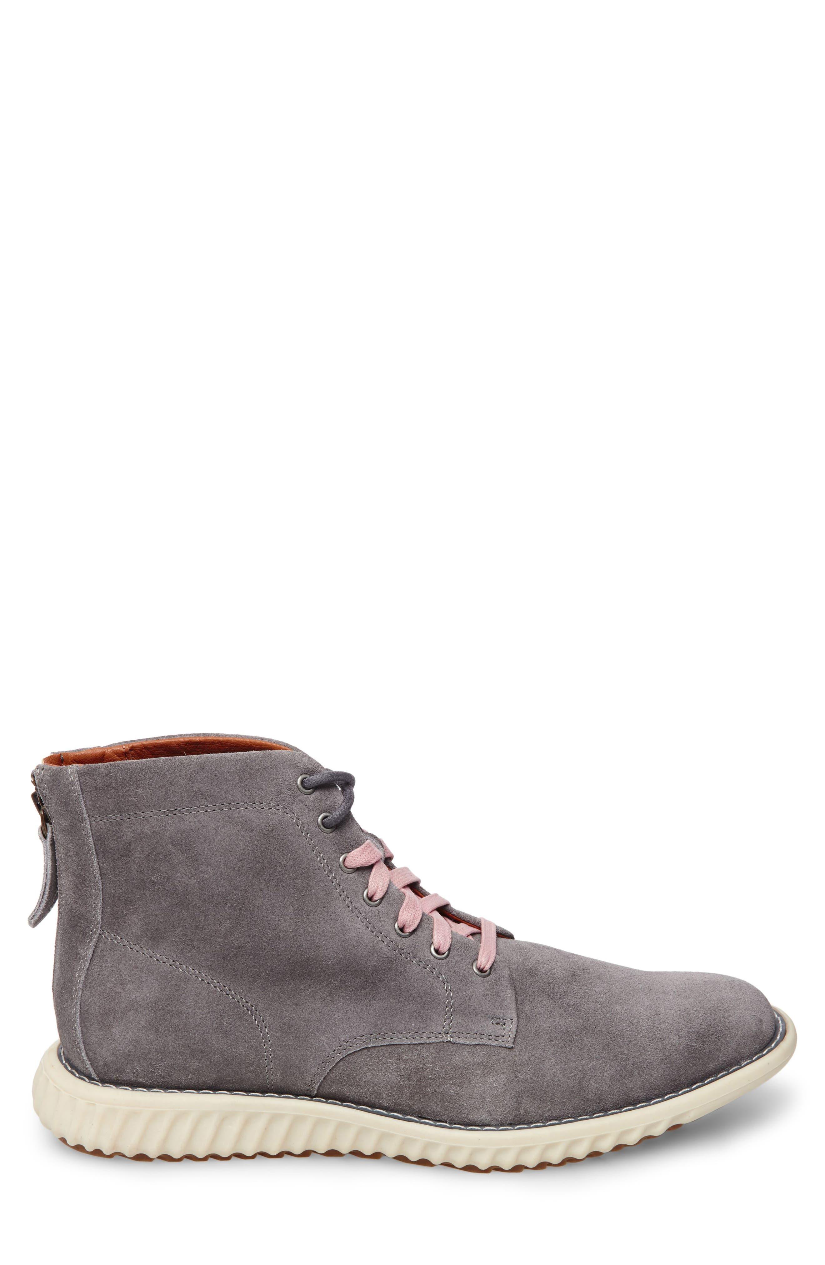 Verner Suede Plain Toe Boot,                             Alternate thumbnail 3, color,                             074