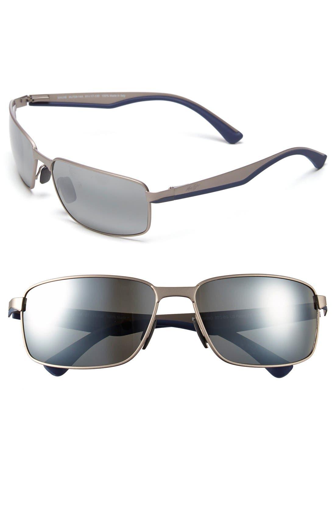 'Backswing - PolarizedPlus<sup>®</sup>2' 61mm Polarized Sunglasses,                         Main,                         color, 020