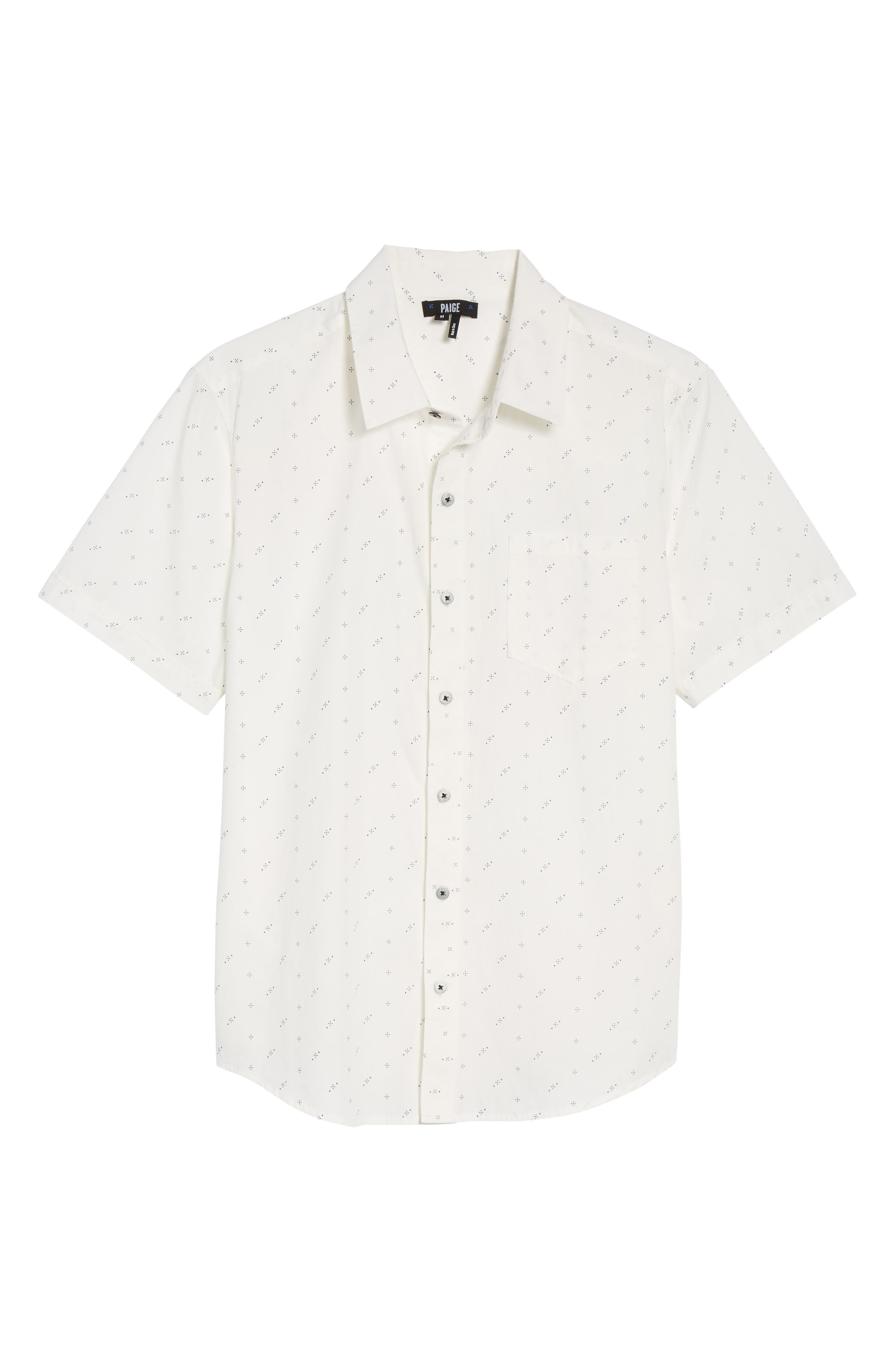 Becker Dot Print Woven Shirt,                             Alternate thumbnail 6, color,                             140
