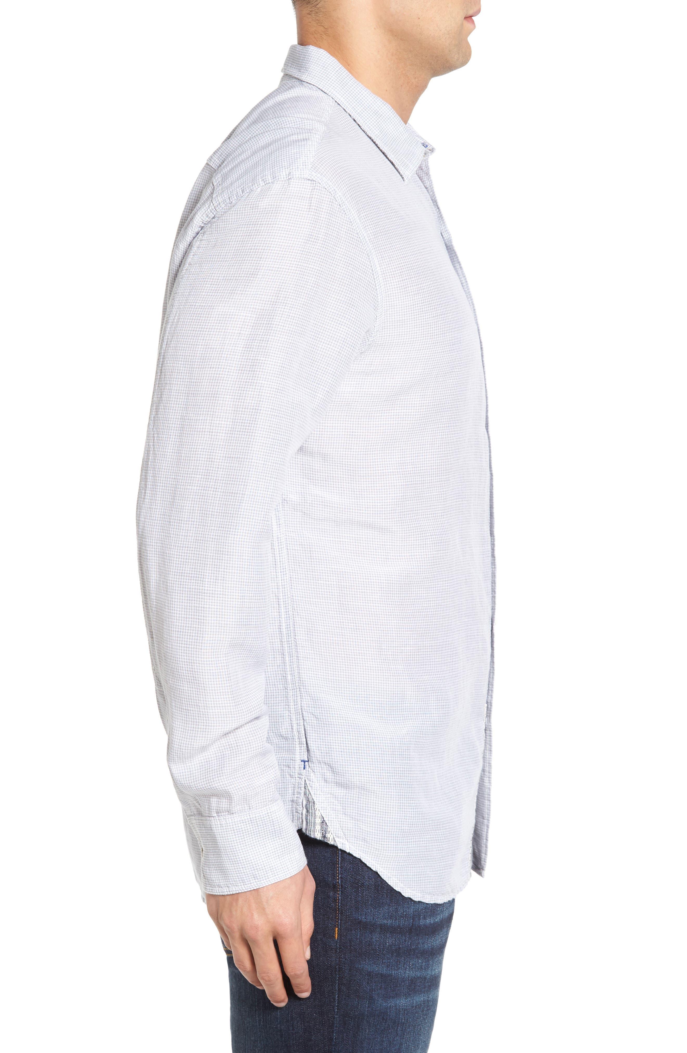 Sand Linen Island Modern Fit Sport Shirt,                             Alternate thumbnail 3, color,                             050