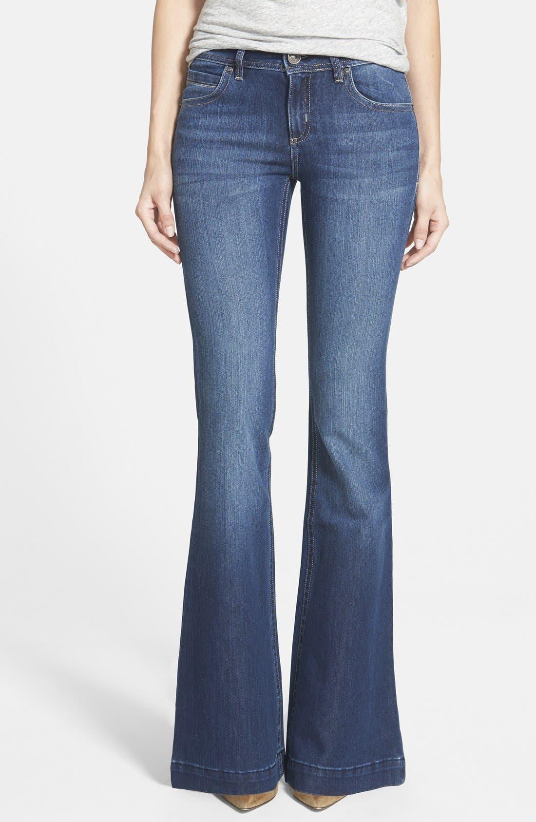 'Joy' Flare Jeans,                             Main thumbnail 1, color,                             425