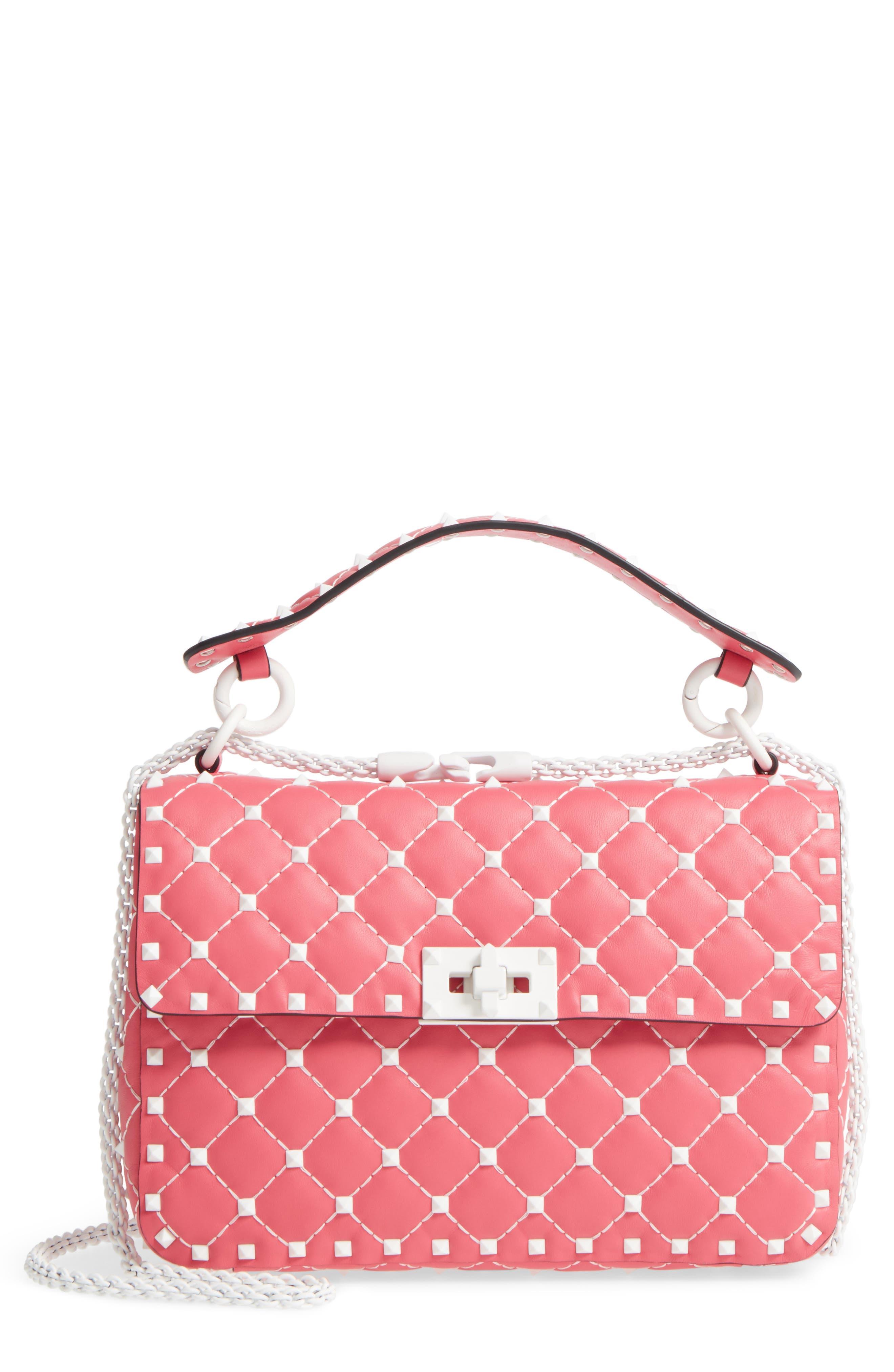 Medium Rockstud Matelassé Leather Shoulder Bag,                             Main thumbnail 3, color,