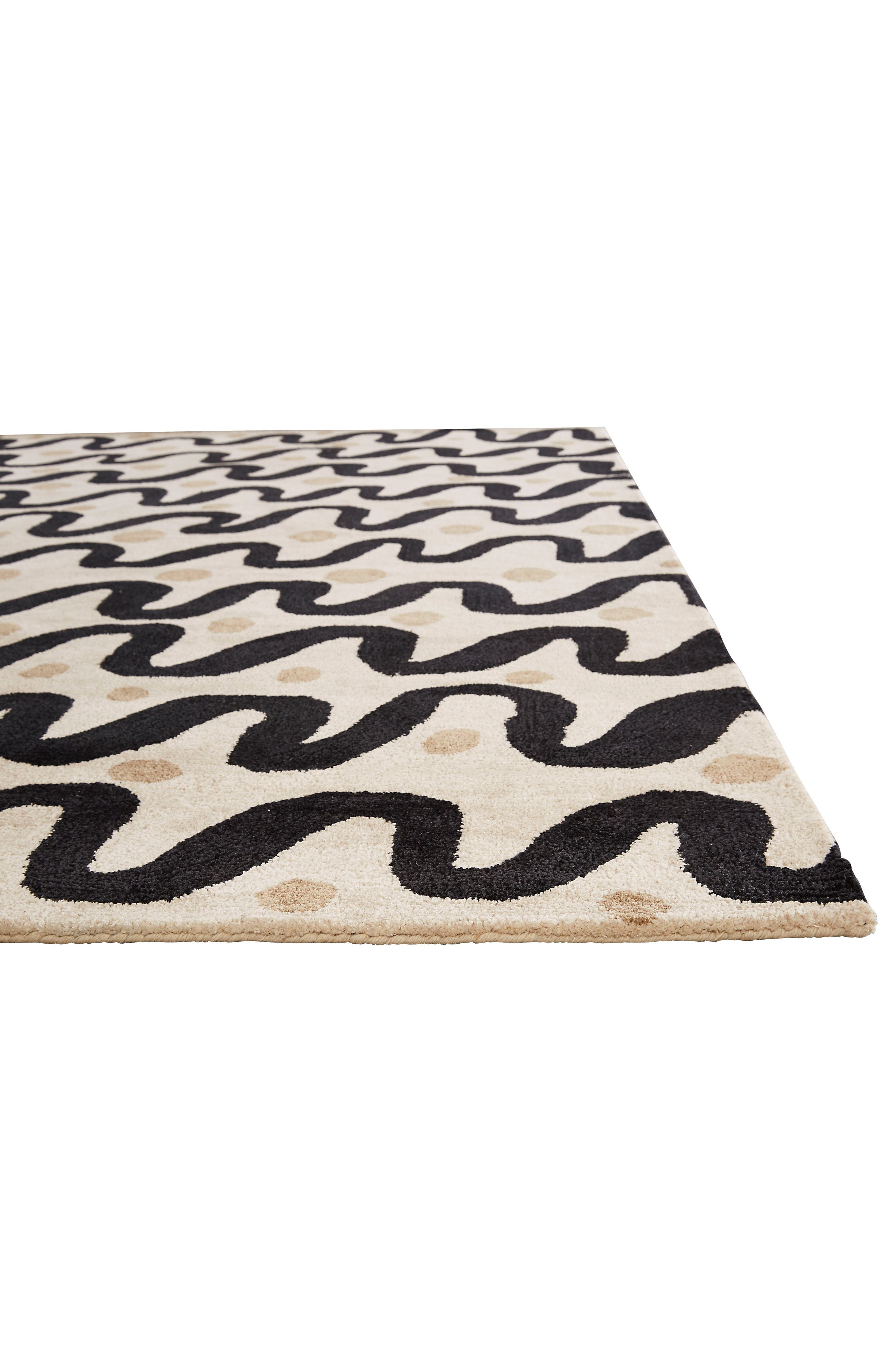 contemporary waves rug,                             Alternate thumbnail 3, color,                             250