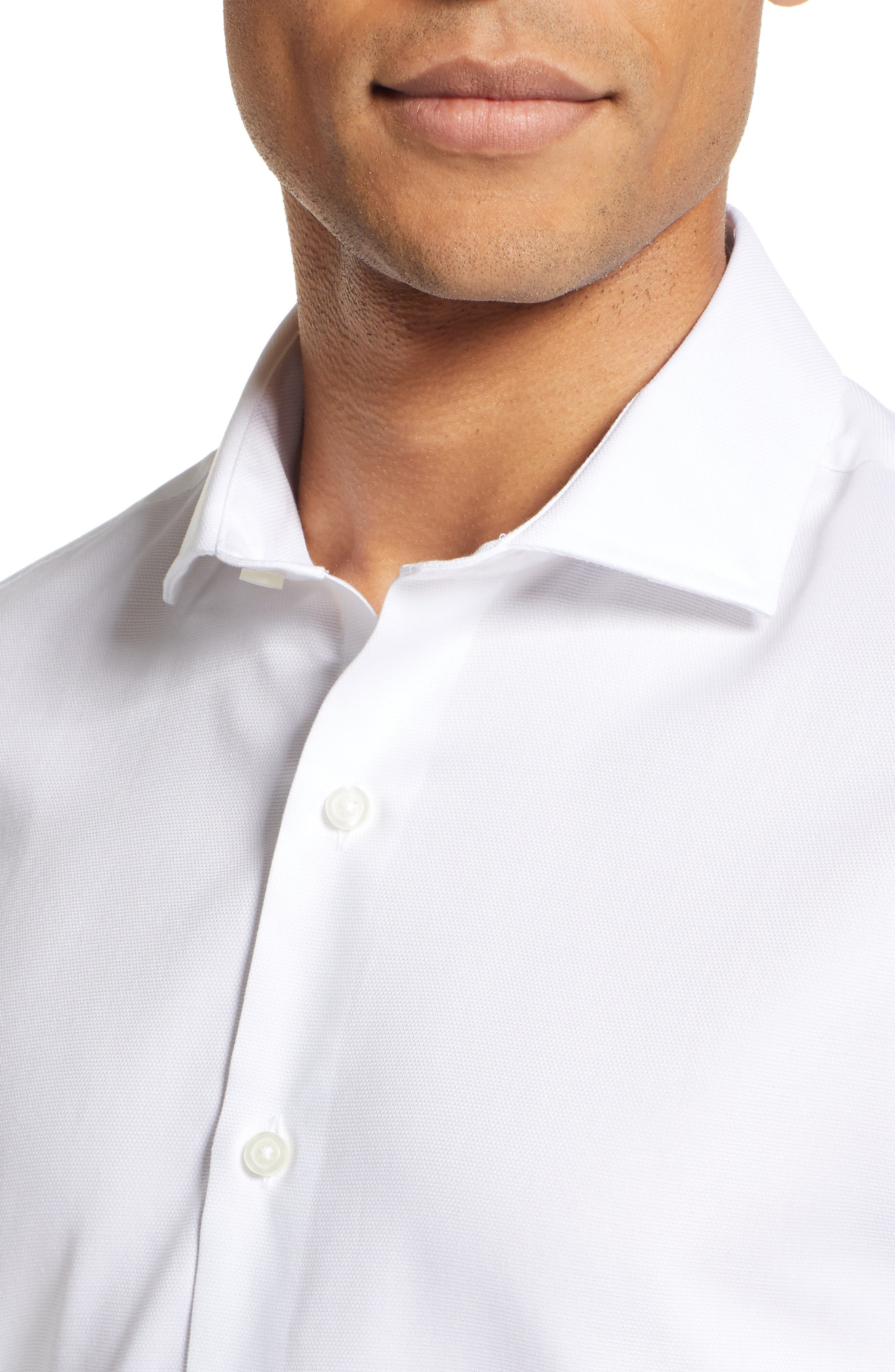 Classic Fit Solid Dress Shirt,                             Alternate thumbnail 2, color,                             WHITE