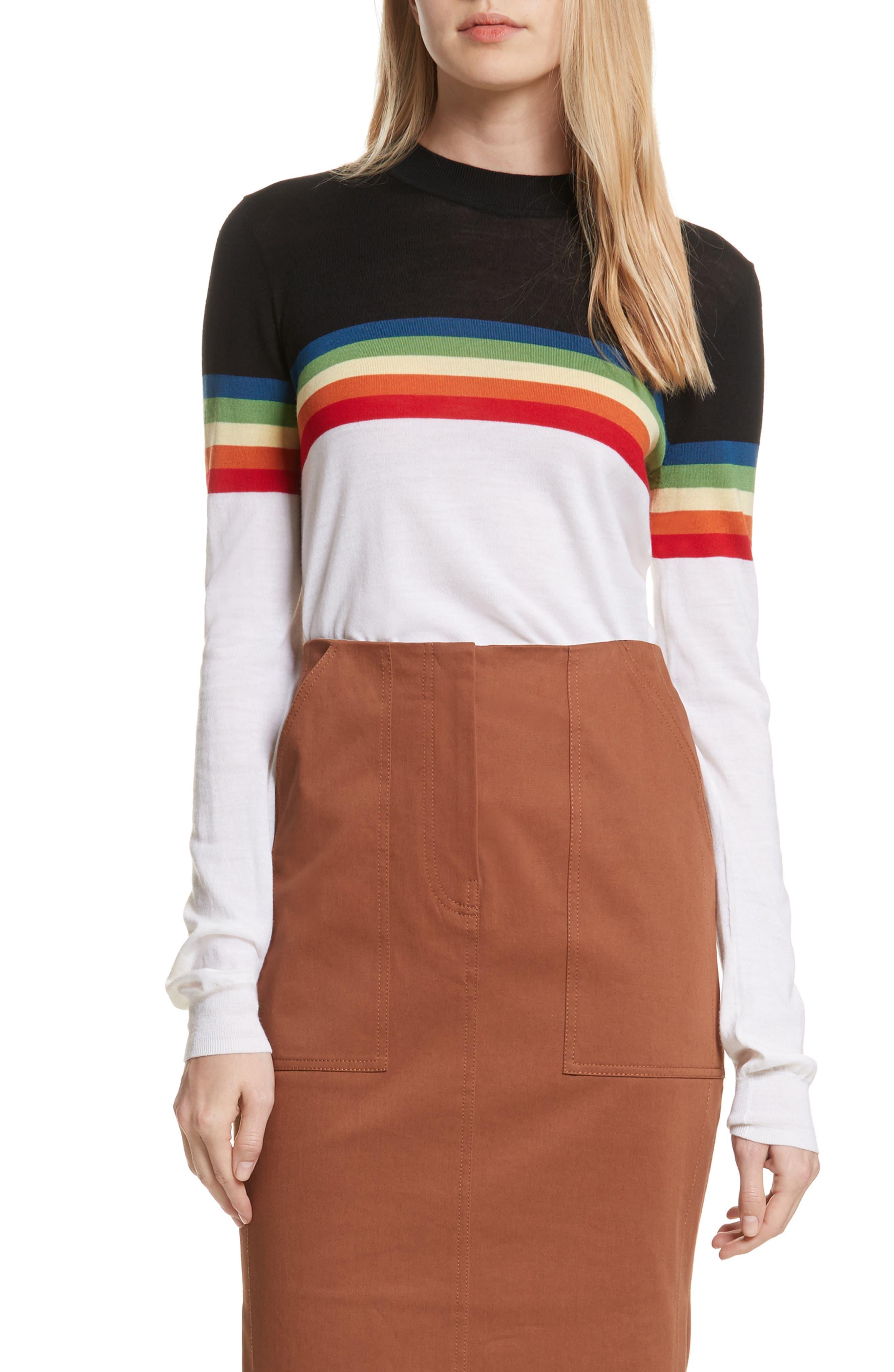 Diane von Furstenberg Rainbow Sweater,                         Main,                         color, 107