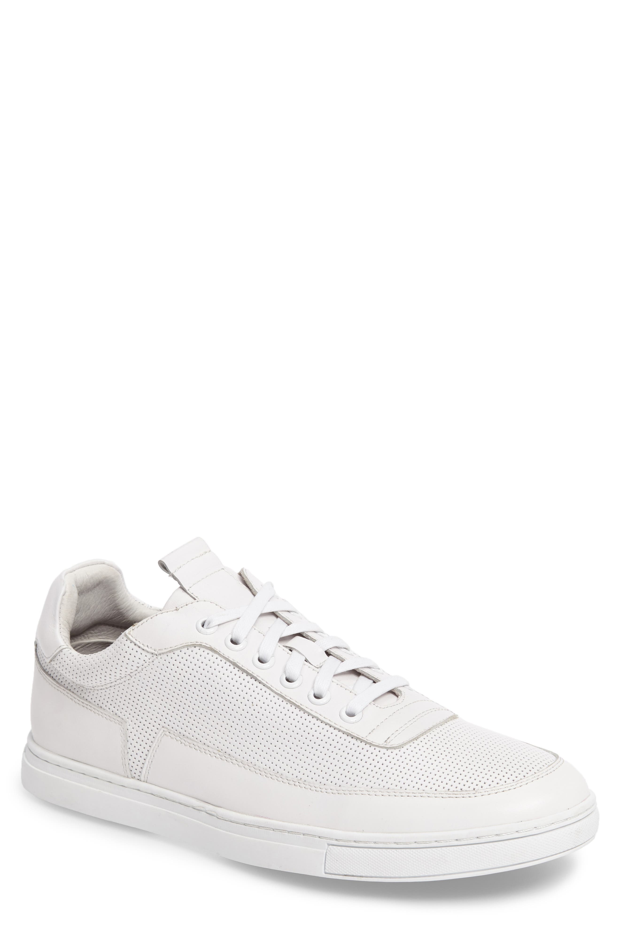 Harmony Sneaker,                         Main,                         color, WHITE LEATHER
