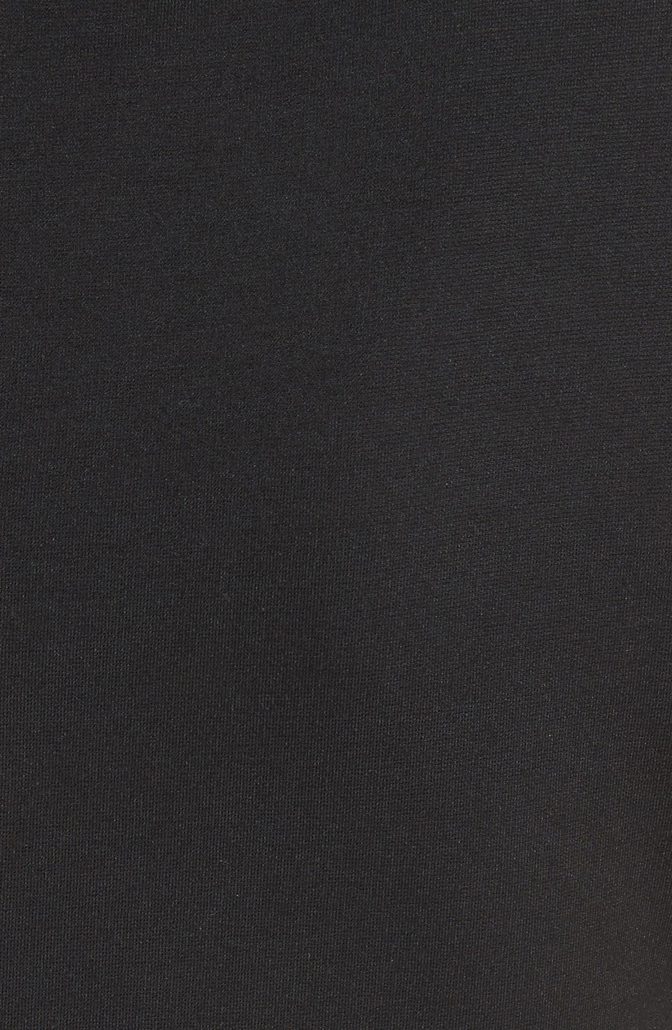 KATE SPADE NEW YORK,                             ponte fiorella fit & flare dress,                             Alternate thumbnail 6, color,                             BLACK