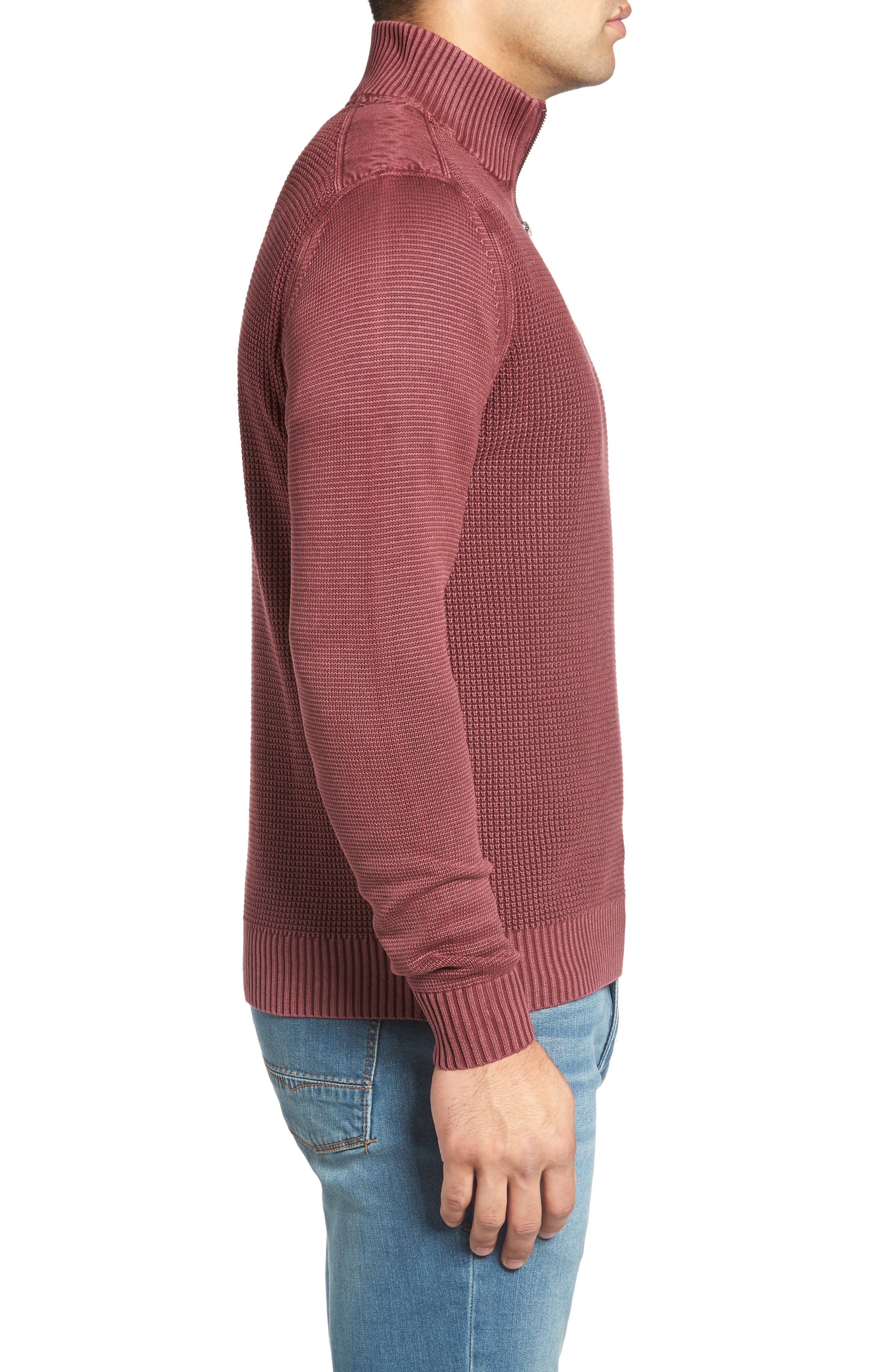 'Coastal Shores' Quarter Zip Sweater,                             Alternate thumbnail 27, color,