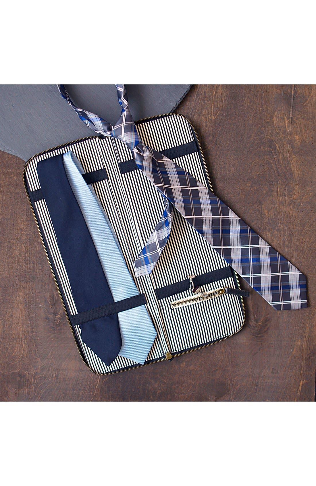 Monogram Tie Case,                             Alternate thumbnail 2, color,                             NAVY