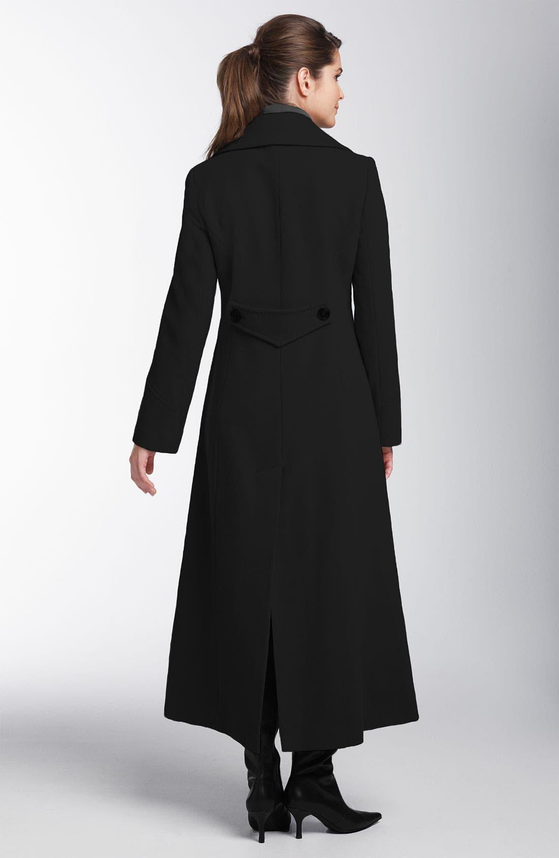 Wool & Cashmere Coat,                             Alternate thumbnail 2, color,                             001