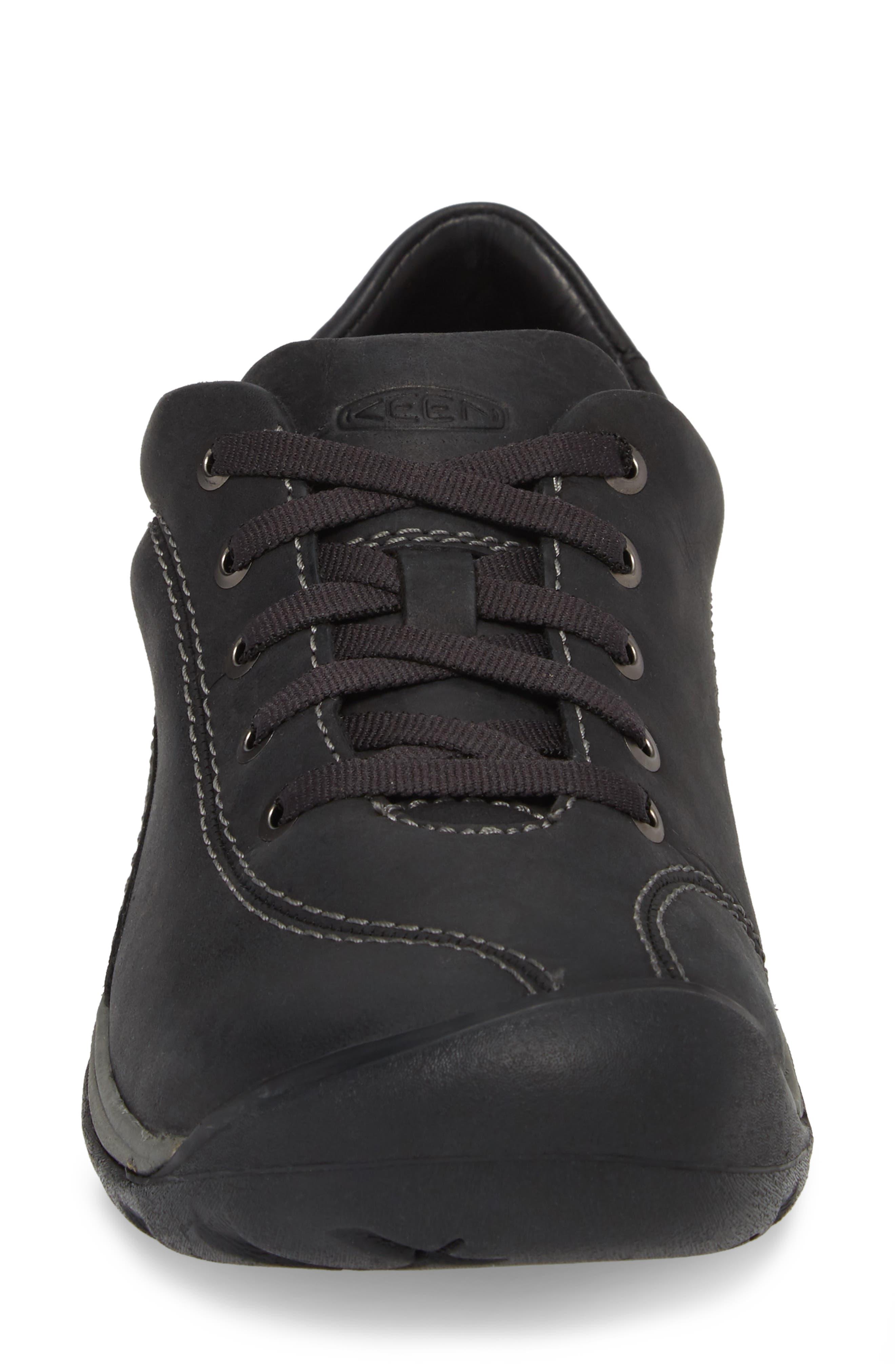 Presidio II Sneaker,                             Alternate thumbnail 4, color,                             BLACK/ STEEL GREY LEATHER