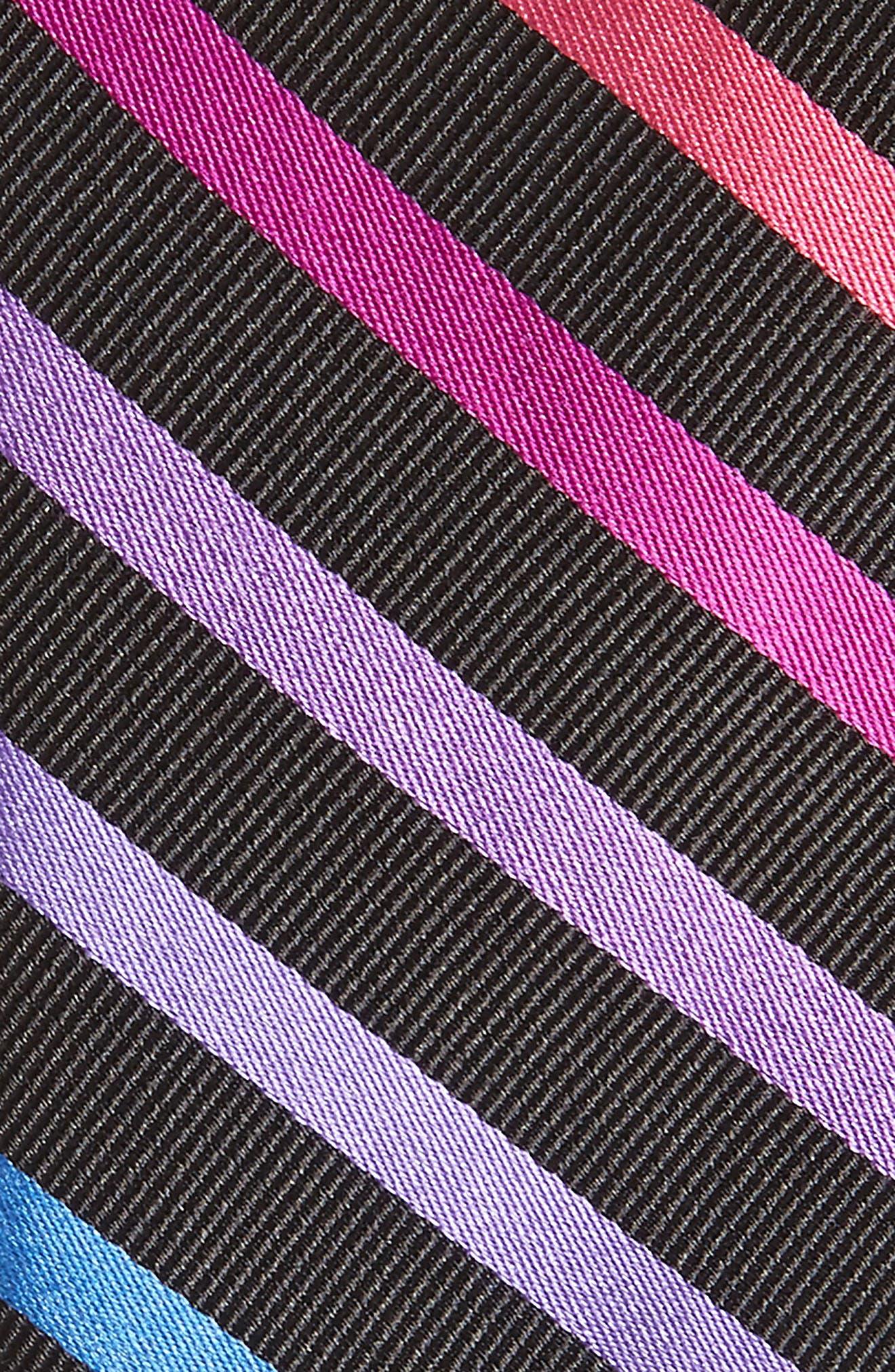 Simi Stripe Silk Tie,                             Alternate thumbnail 2, color,                             BLACK
