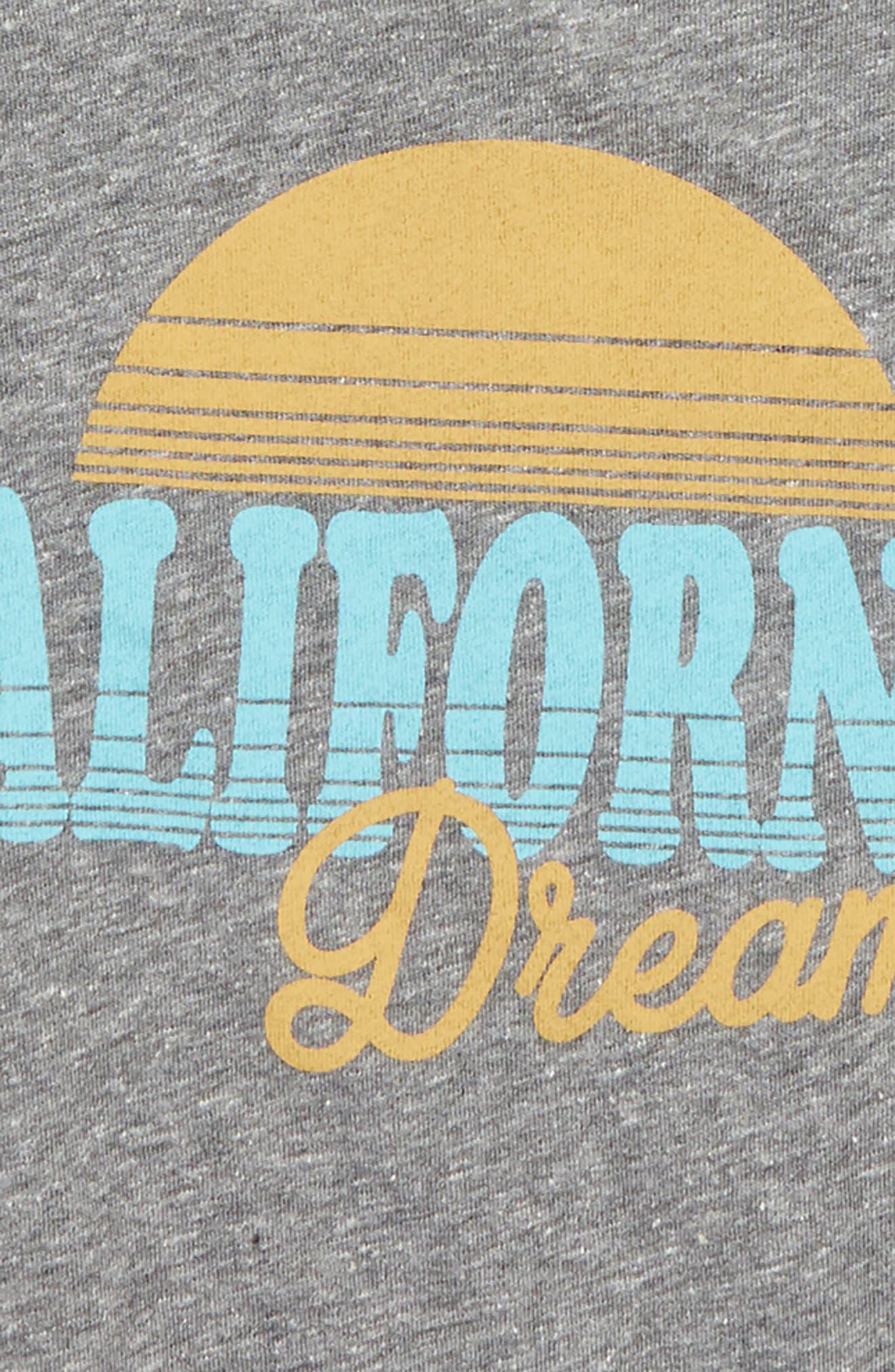 California Dreamin' Graphic T-Shirt,                             Alternate thumbnail 2, color,                             020