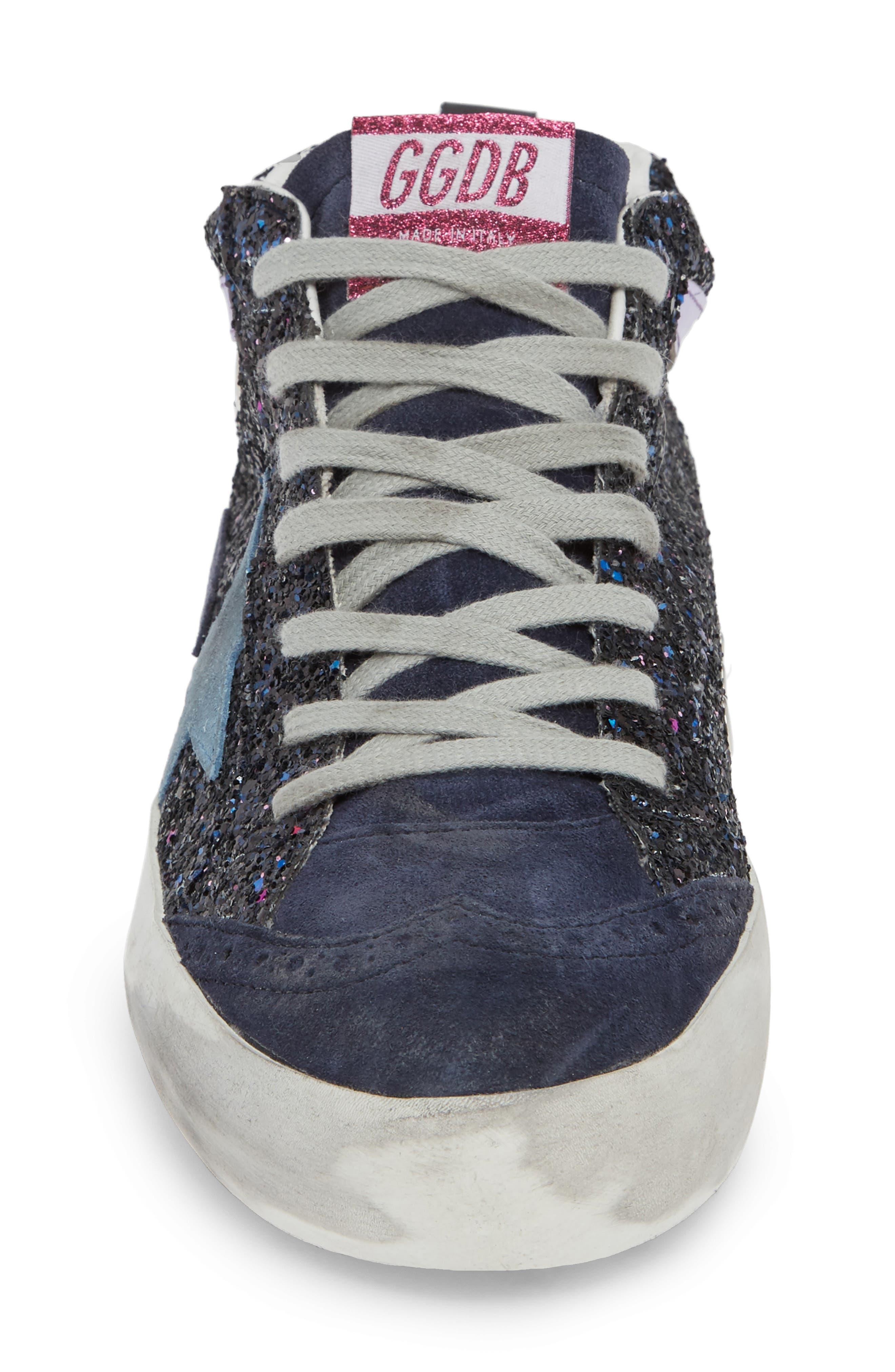 Mid Star Glitter Sneaker,                             Alternate thumbnail 4, color,                             400