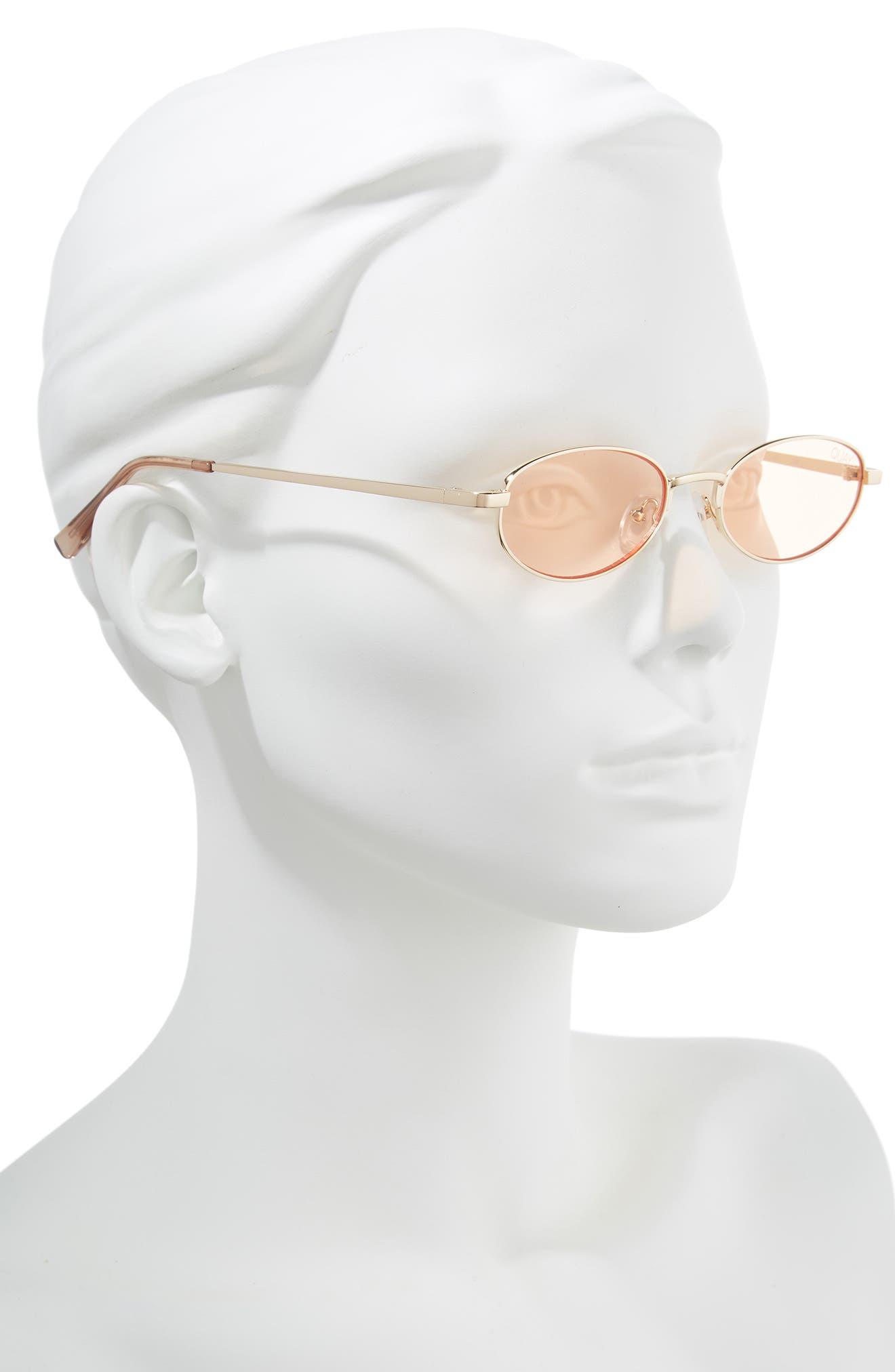 49mm Showdown Oval Sunglasses,                             Alternate thumbnail 2, color,                             GOLD