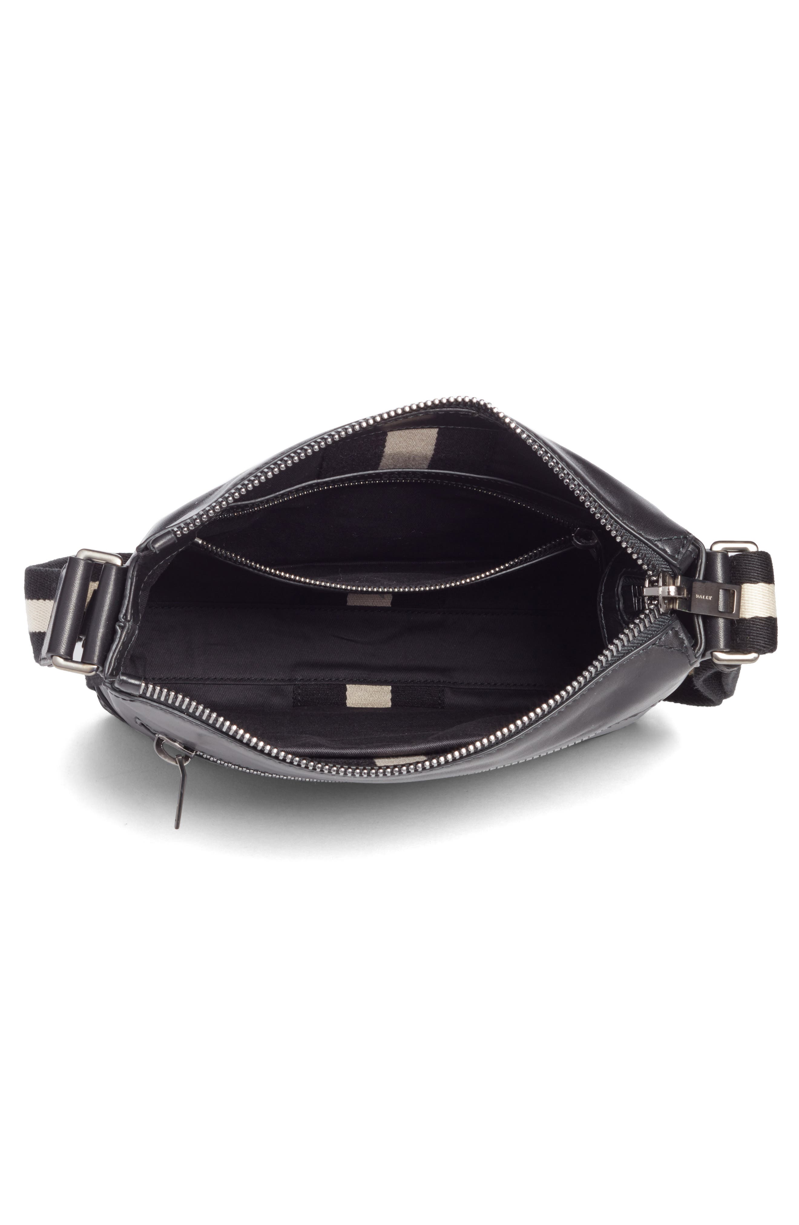 BALLY,                             Trezzini Leather Crossbody Bag,                             Alternate thumbnail 4, color,                             001