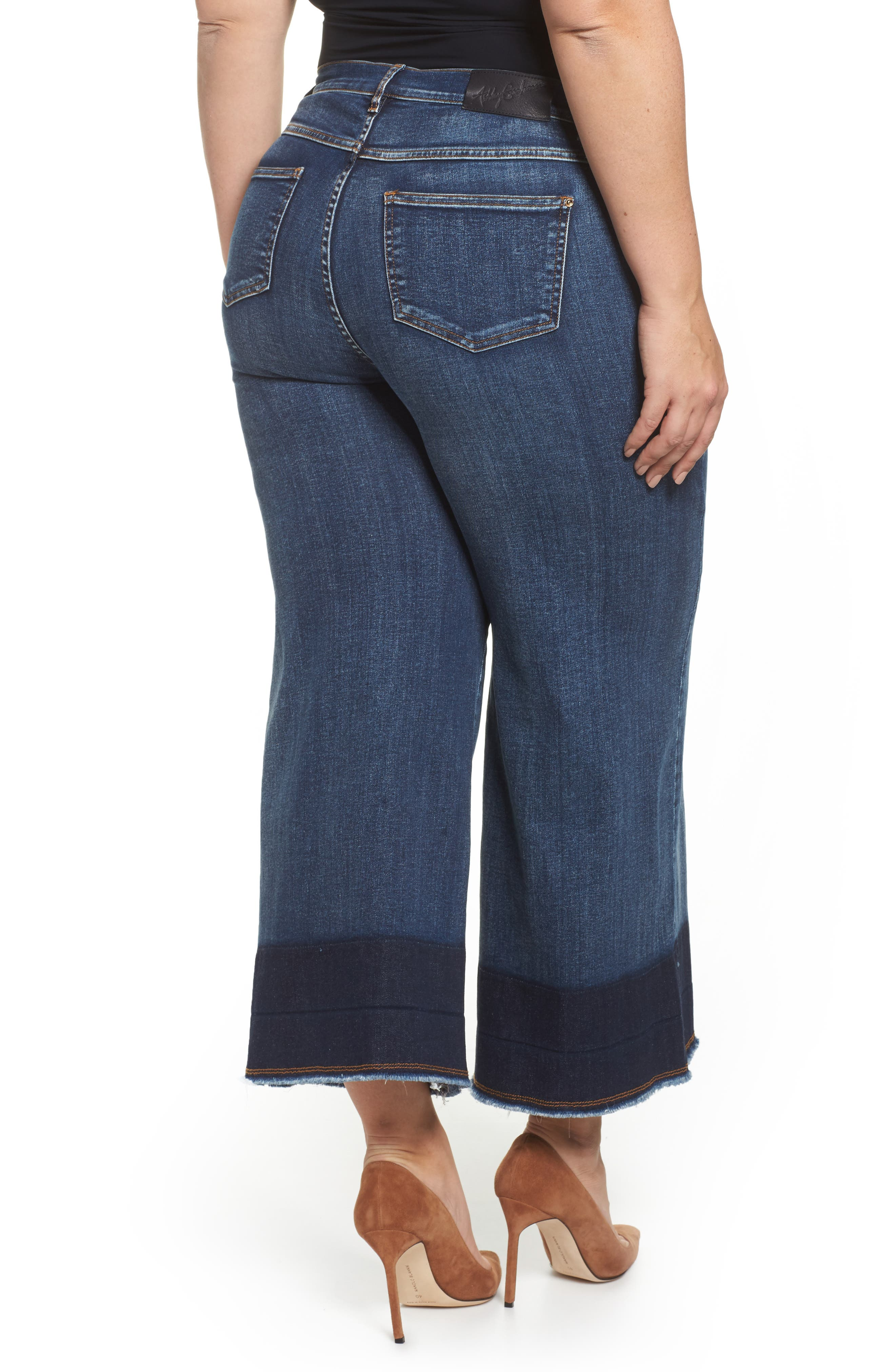 Idioma Super Stretch Wide Leg Jeans,                             Alternate thumbnail 2, color,                             454