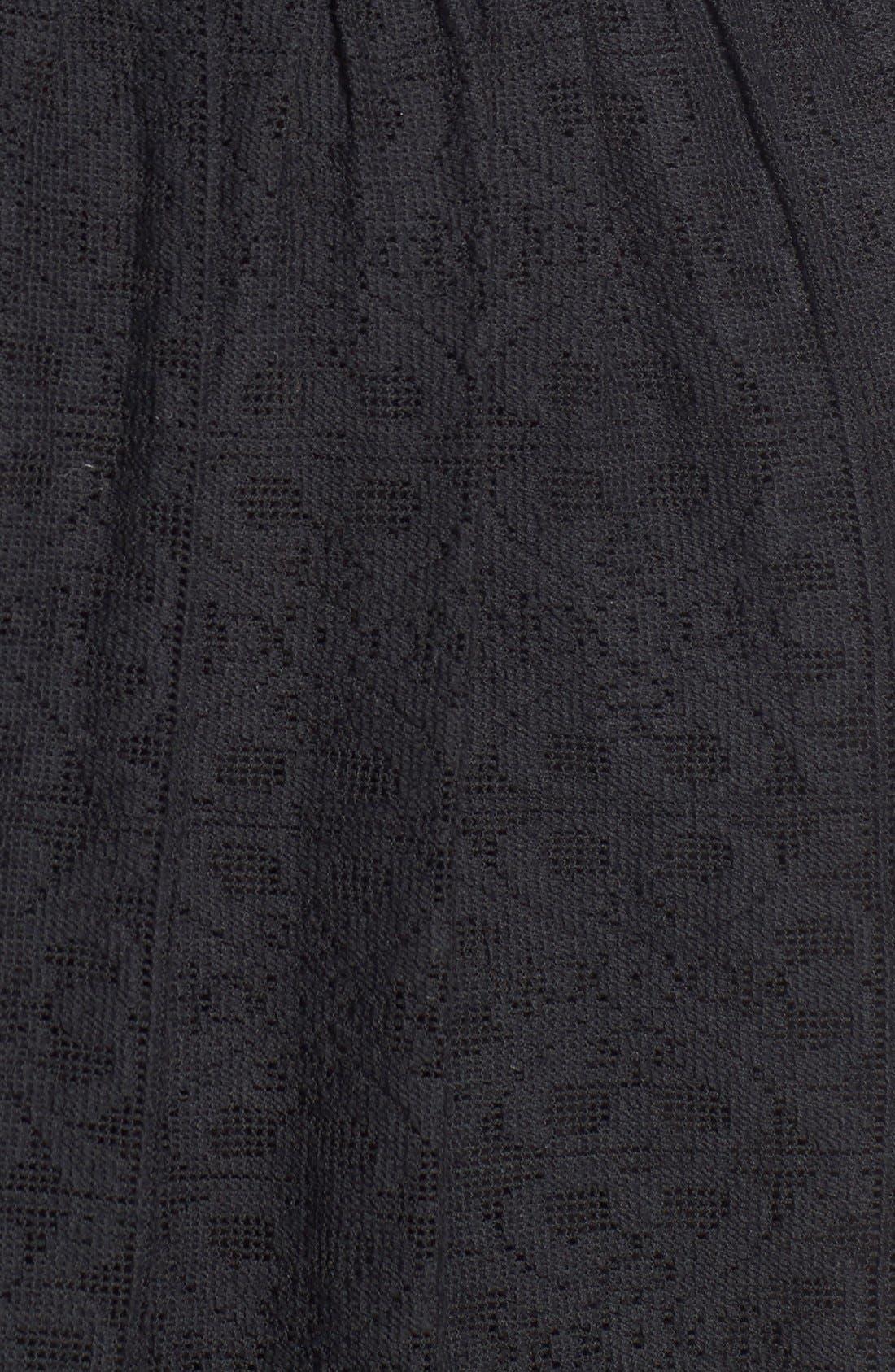 Lace Fit & Flare Midi Dress,                             Alternate thumbnail 3, color,                             001