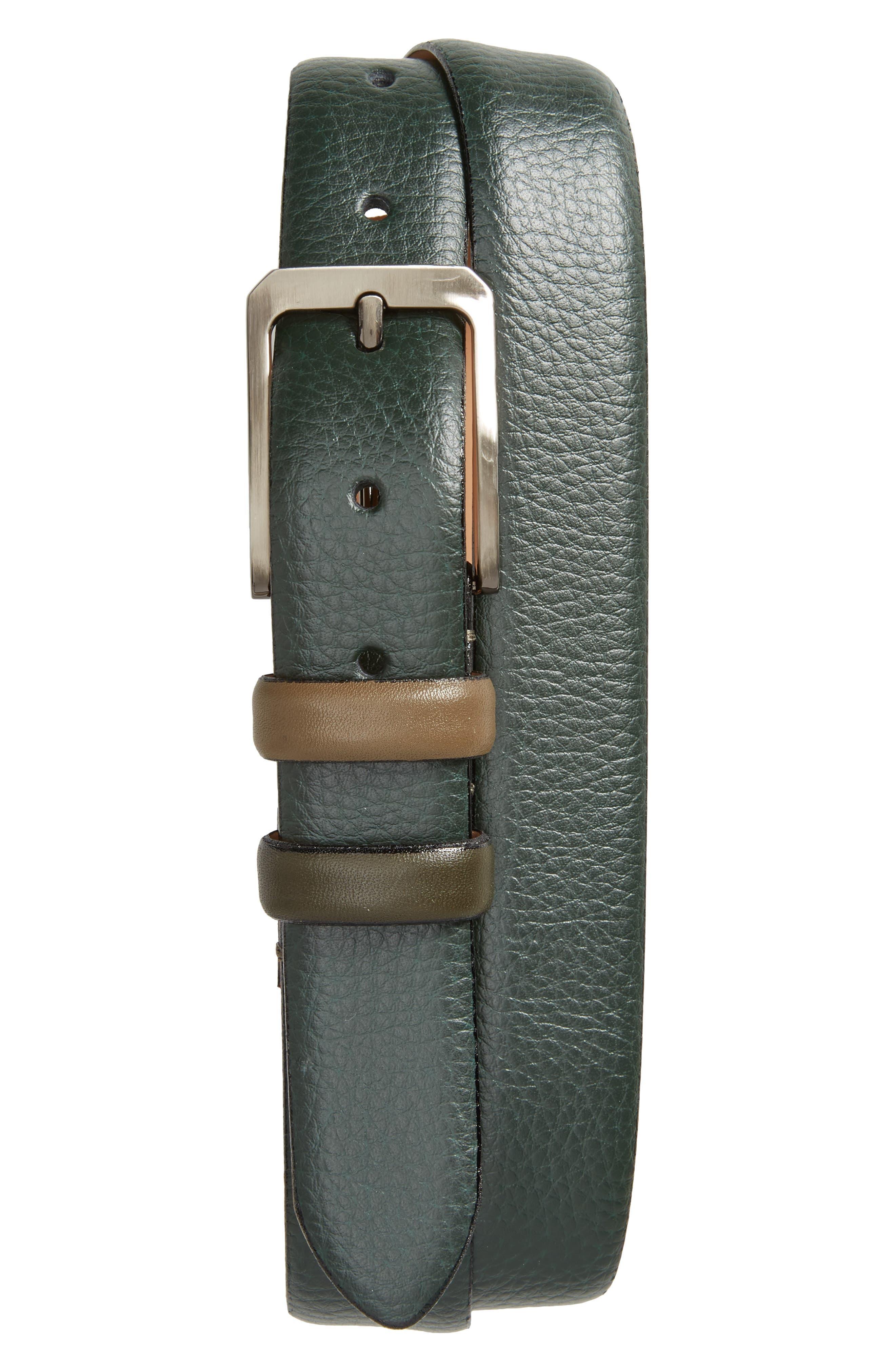 Shrubs Leather Belt,                             Main thumbnail 2, color,