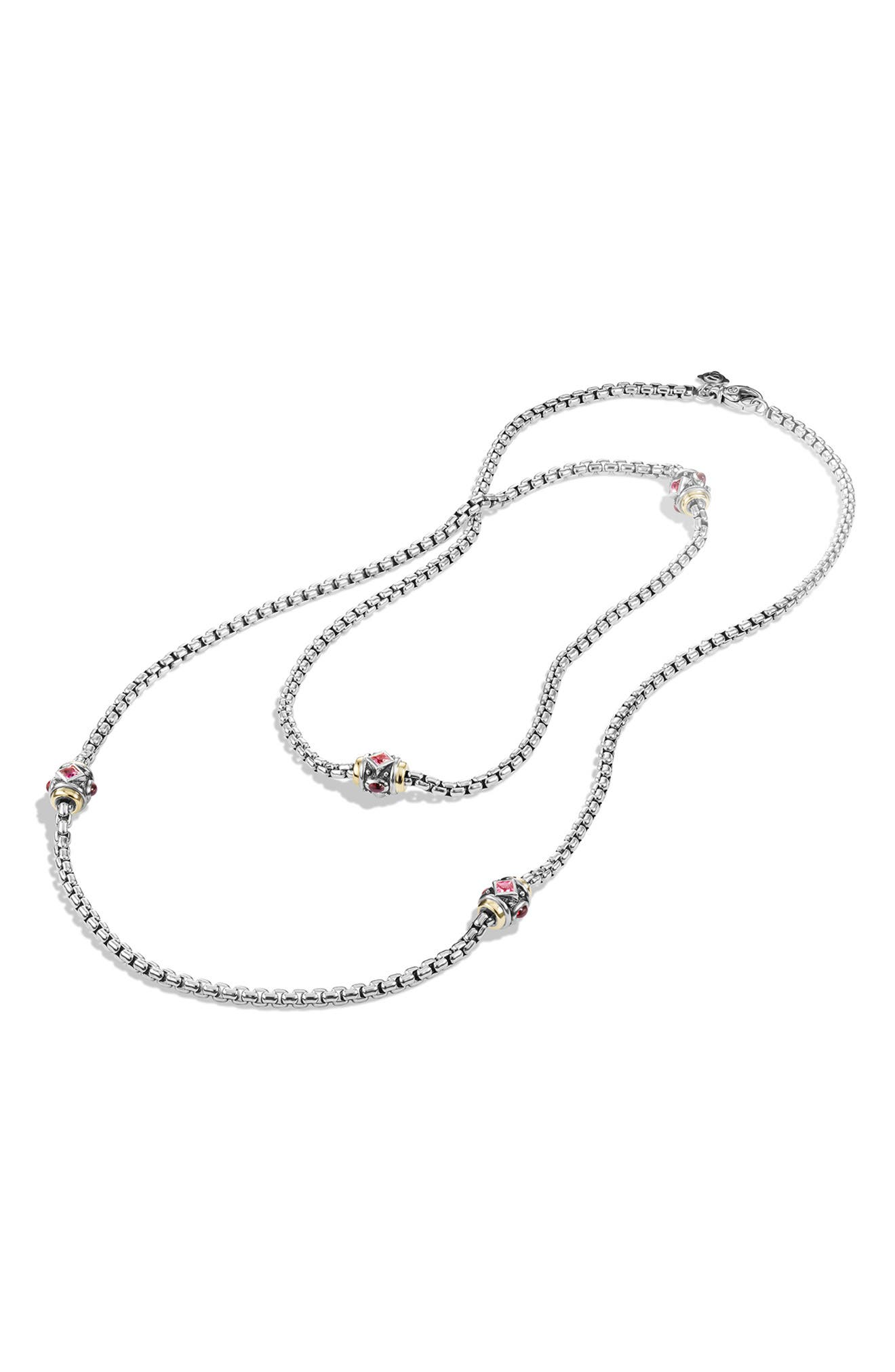 'Renaissance' Necklace with Semiprecious Stone and 18k Gold,                             Alternate thumbnail 4, color,                             650