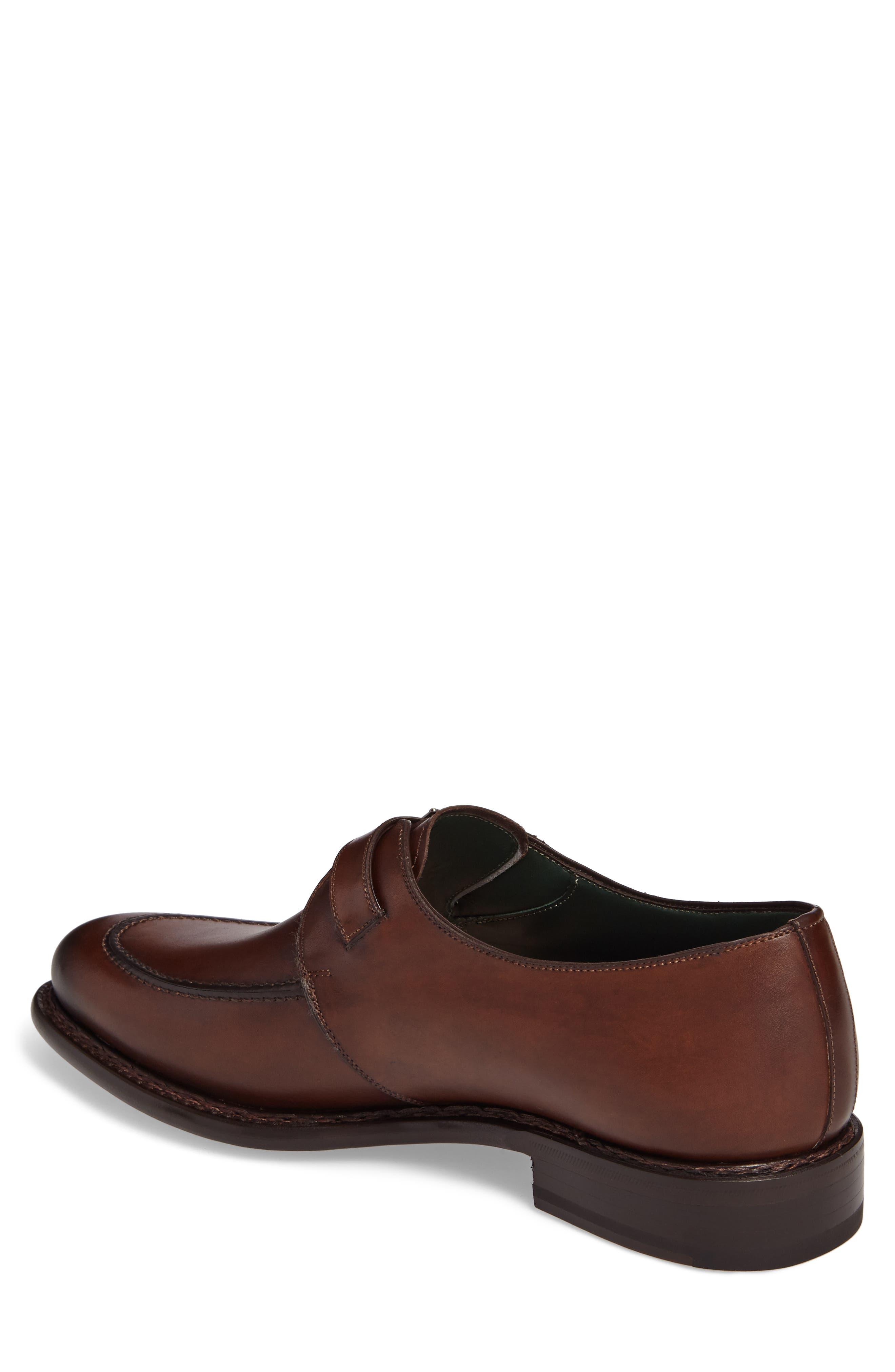 Aguilar Monk Strap Shoe,                             Alternate thumbnail 2, color,                             COGNAC LEATHER