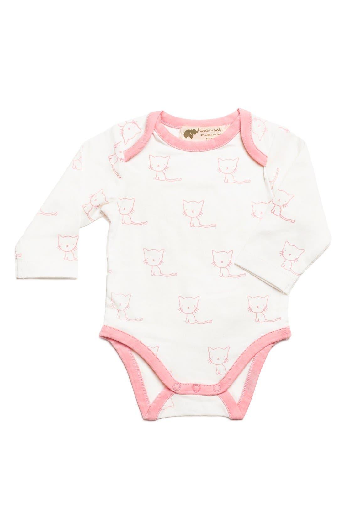 Jack & Jill Purrfectly Kitten Bodysuit,                         Main,                         color, 650