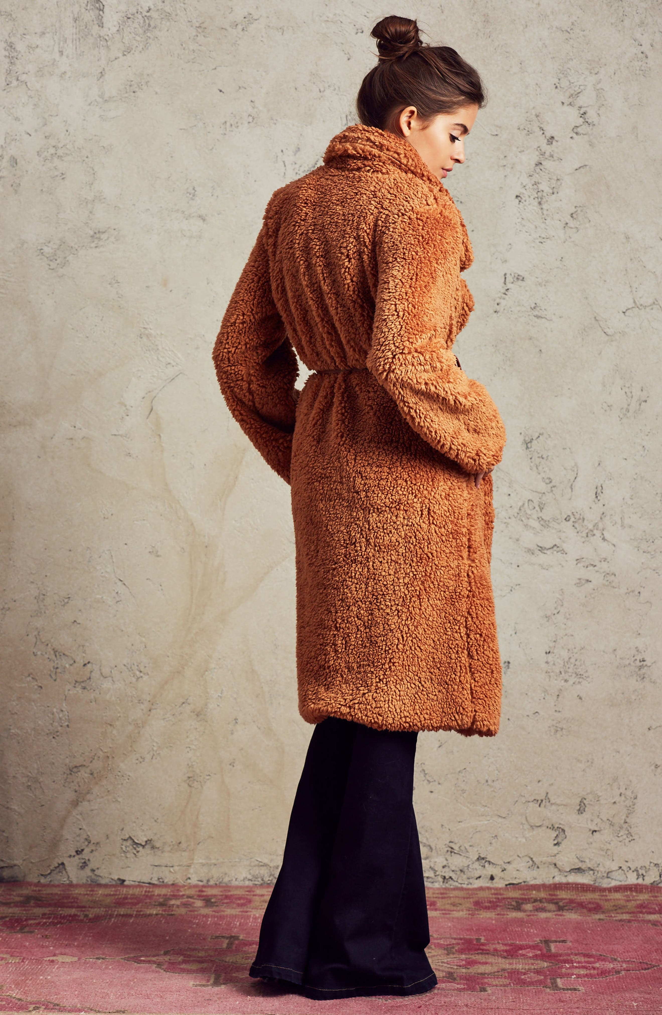 Violet Teddy Bear Coat,                             Alternate thumbnail 19, color,