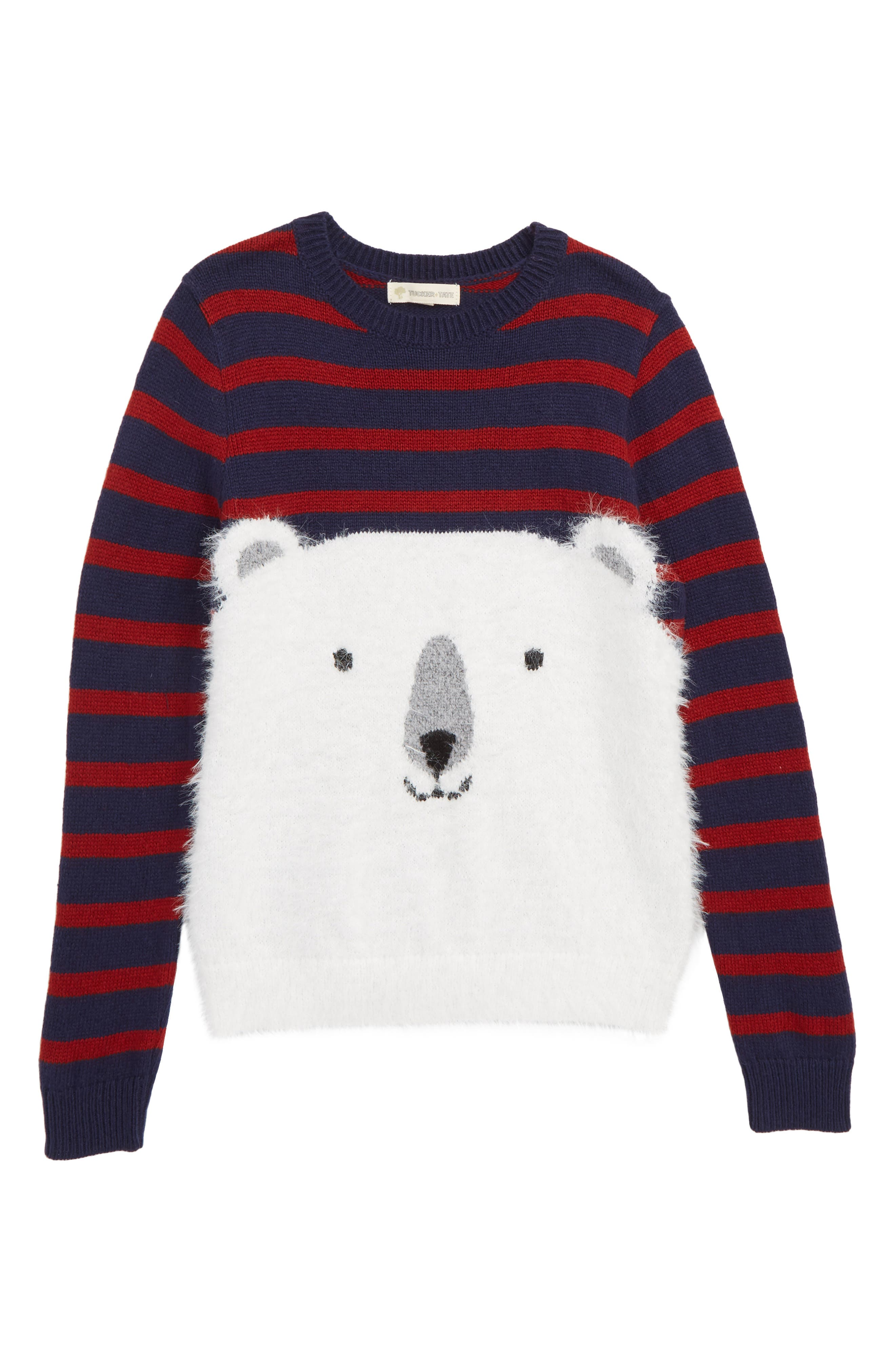Polar Bear Icon Sweater,                             Main thumbnail 1, color,                             NAVY BLAZER POLAR BEAR