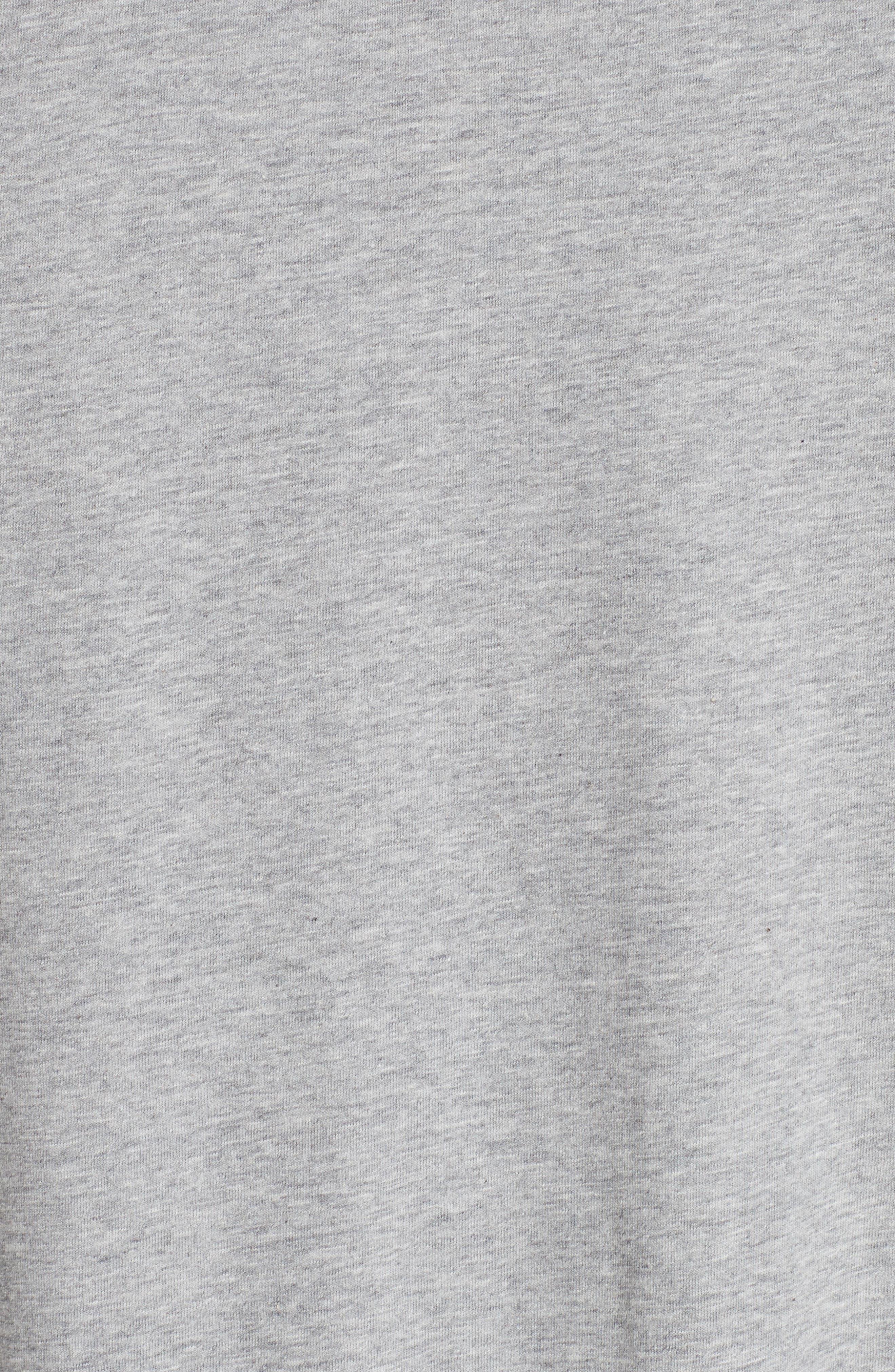 Flower Print T-Shirt,                             Alternate thumbnail 5, color,                             GREY MEL