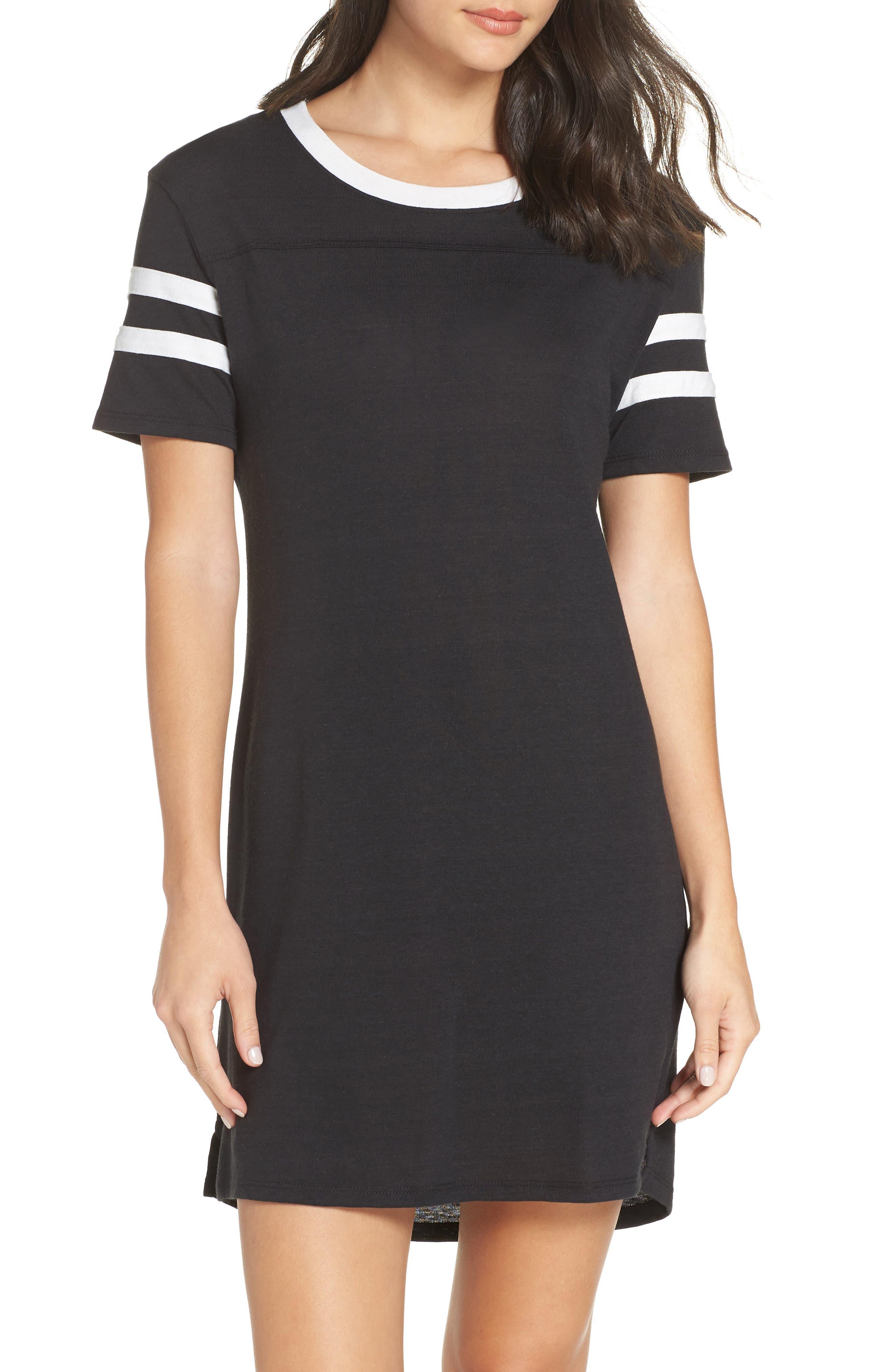 ALTERNATIVE Stadium Eco Jersey T-Shirt Dress in Eco True Black
