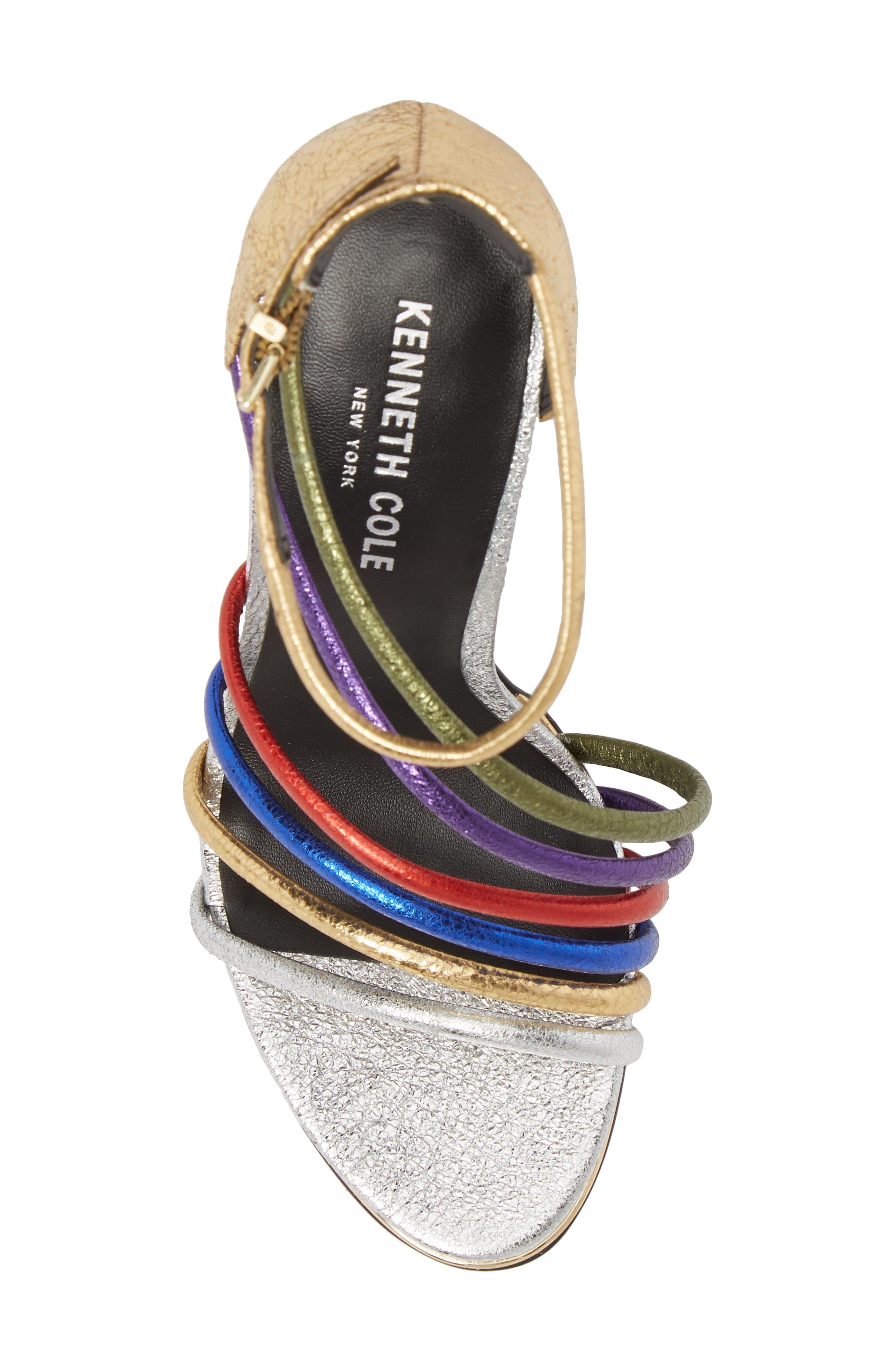 Barletta Asymmetrical Strappy Sandal,                             Alternate thumbnail 5, color,                             MULTI LEATHER