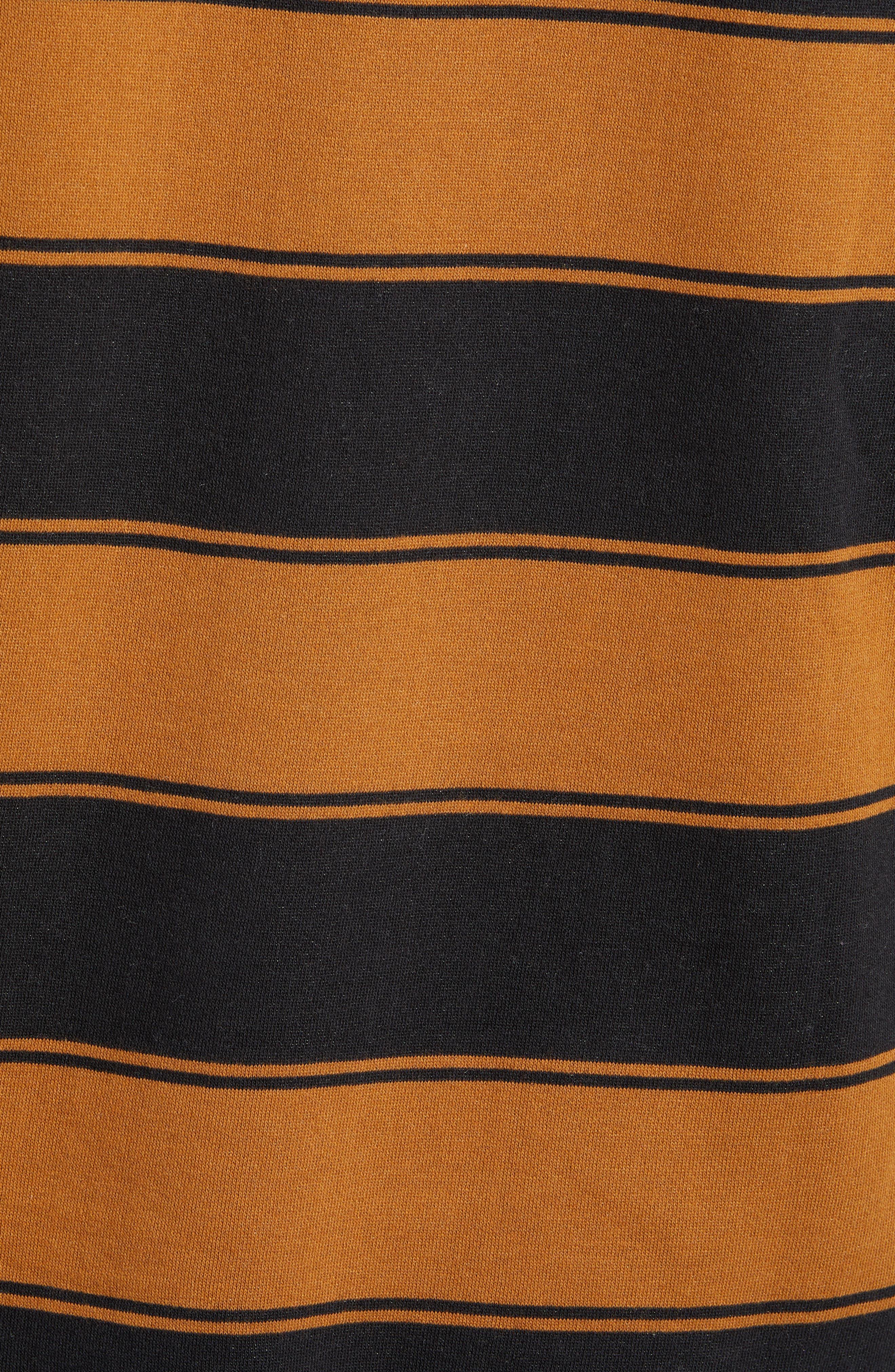 Tall Box Stripe Hoodie Sweatshirt,                             Alternate thumbnail 5, color,                             001