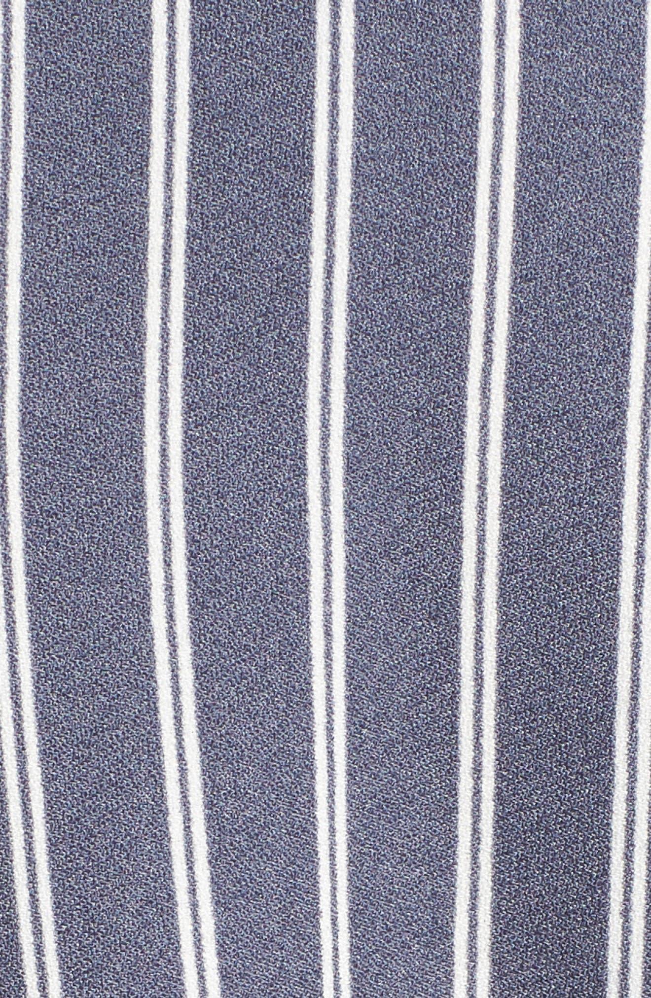Stripe Convertible Halter Jumpsuit,                             Alternate thumbnail 5, color,