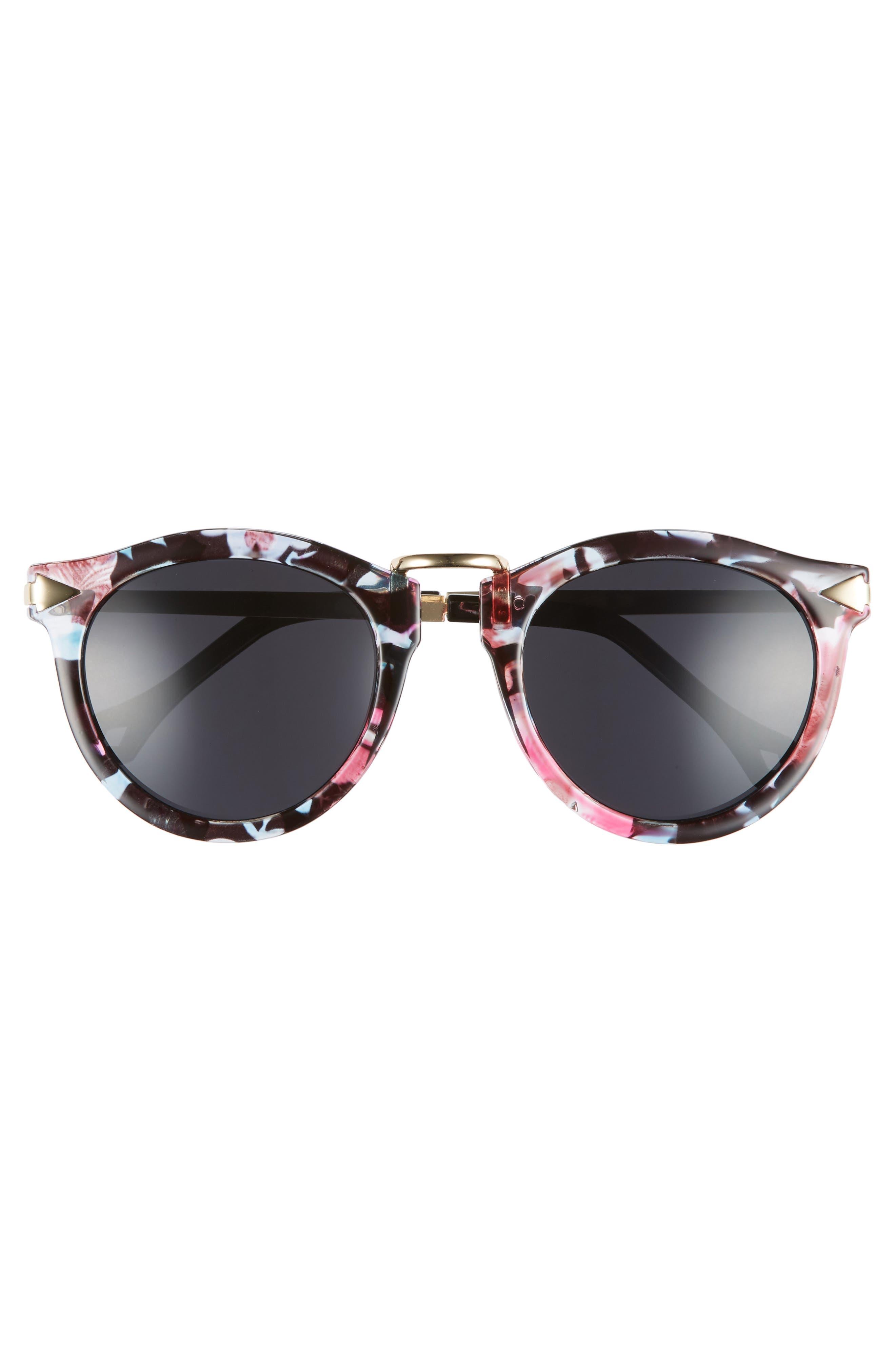 51mm Wing Detail Sunglasses,                             Alternate thumbnail 3, color,