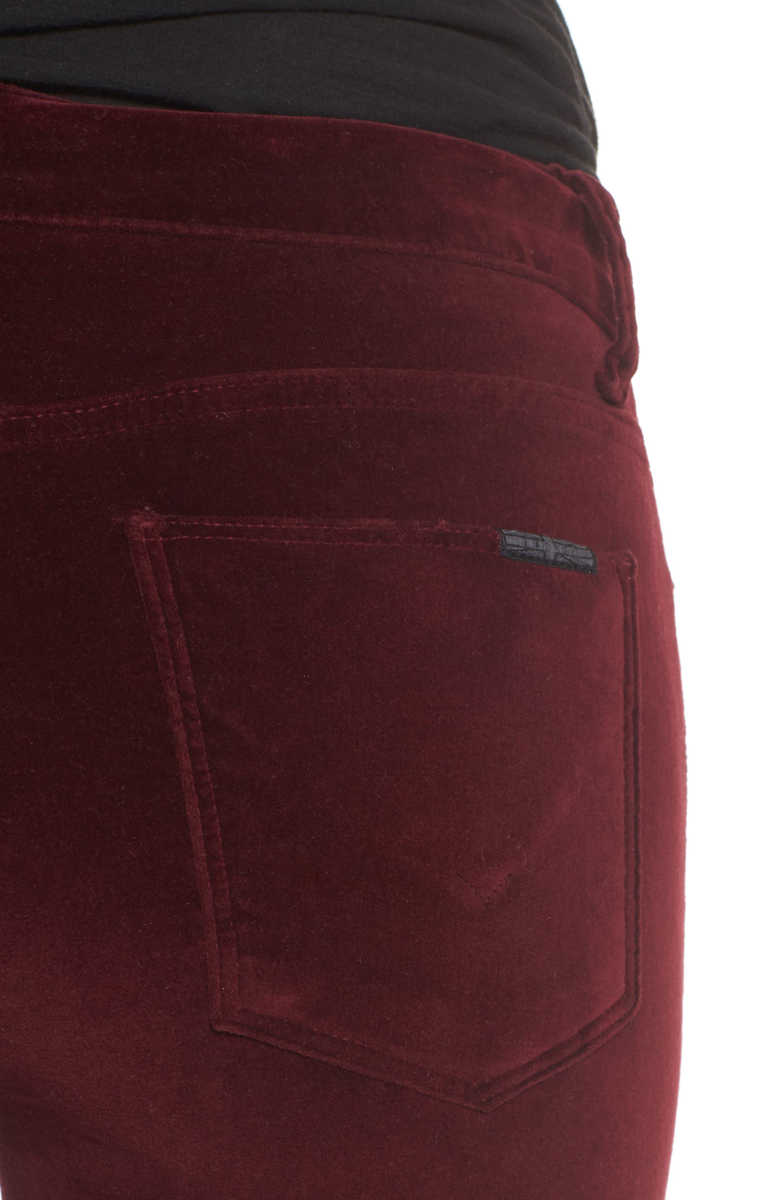 Nico Ankle Skinny Velvet Pants,                             Alternate thumbnail 8, color,