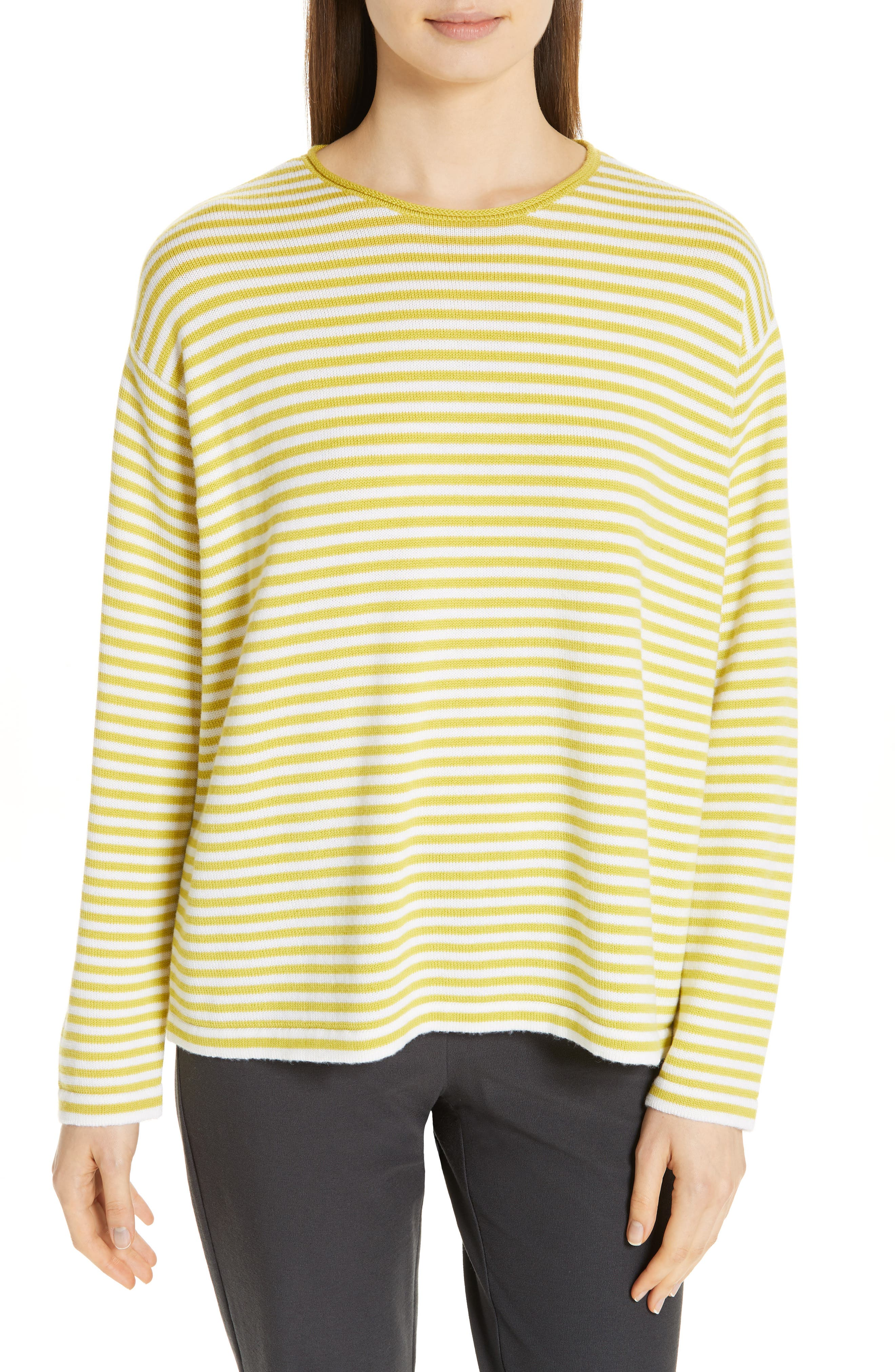 Eileen Fisher Merino Wool Sweater, White