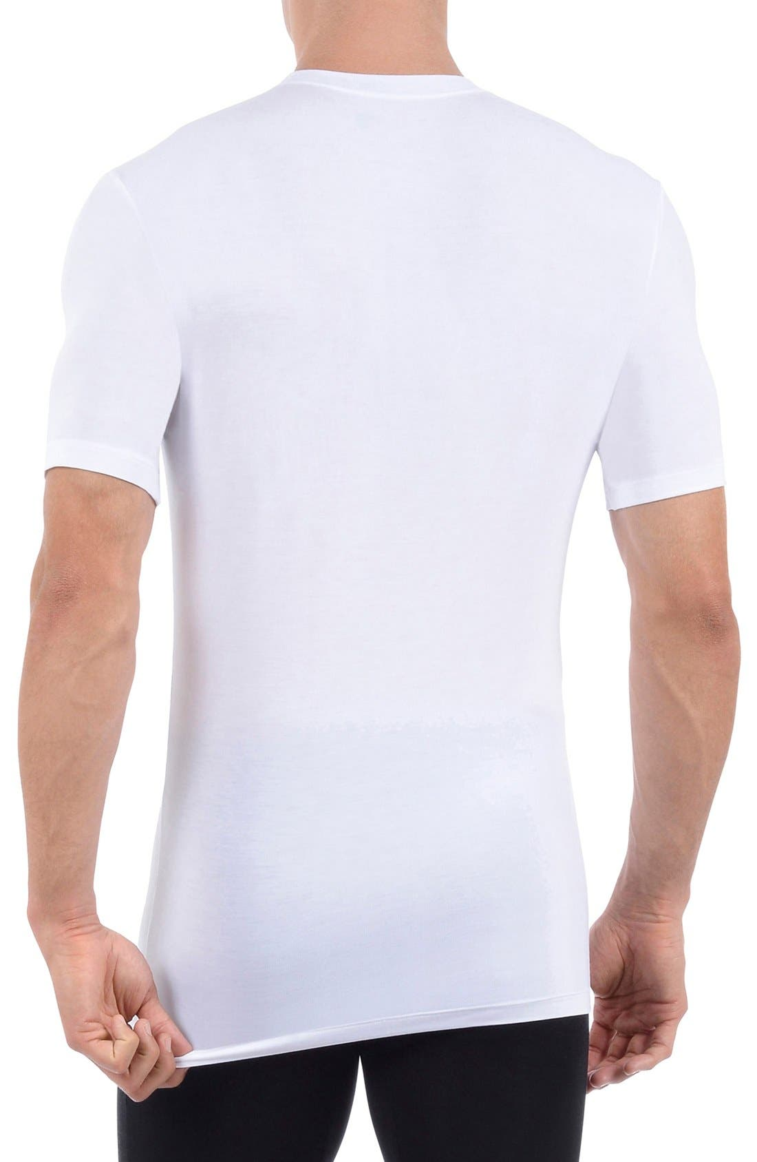 Second Skin Crewneck Undershirt,                             Alternate thumbnail 2, color,                             WHITE