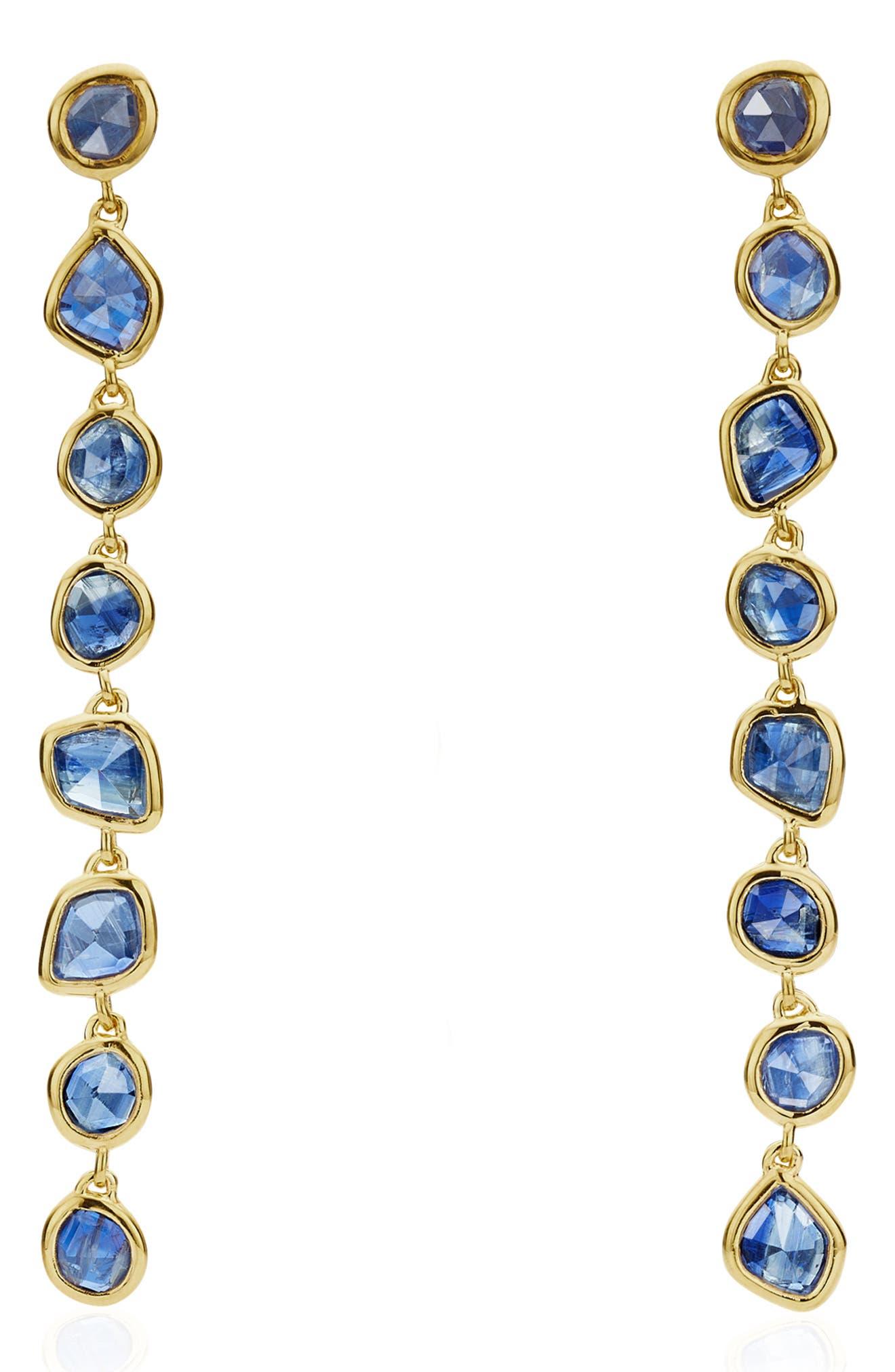 Siren Mini Nugget Earrings,                         Main,                         color, GOLD/ KYANITE