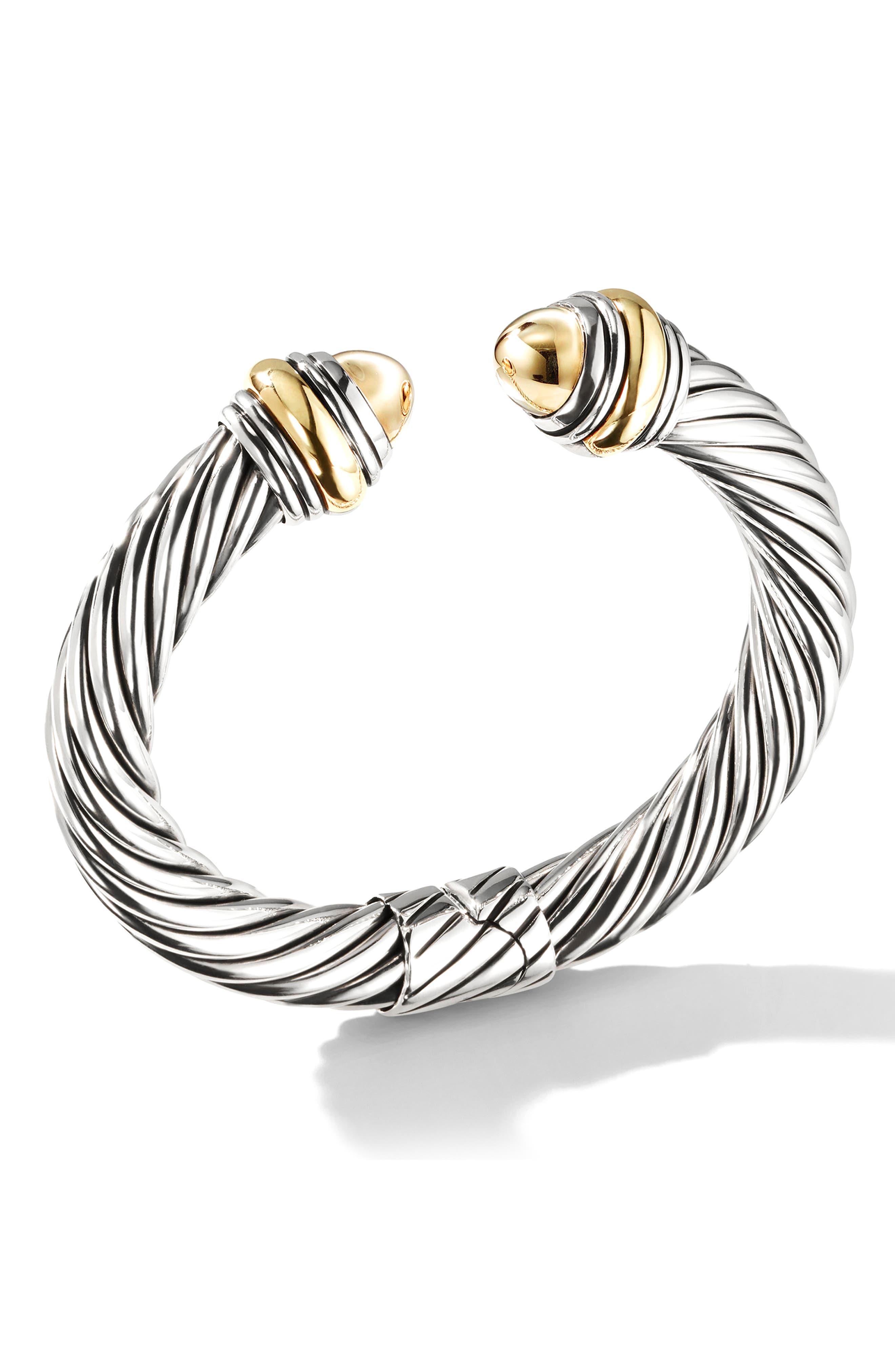 Cable Classics Bracelet,                             Alternate thumbnail 2, color,                             GOLD/ SILVER/ GOLD DOME