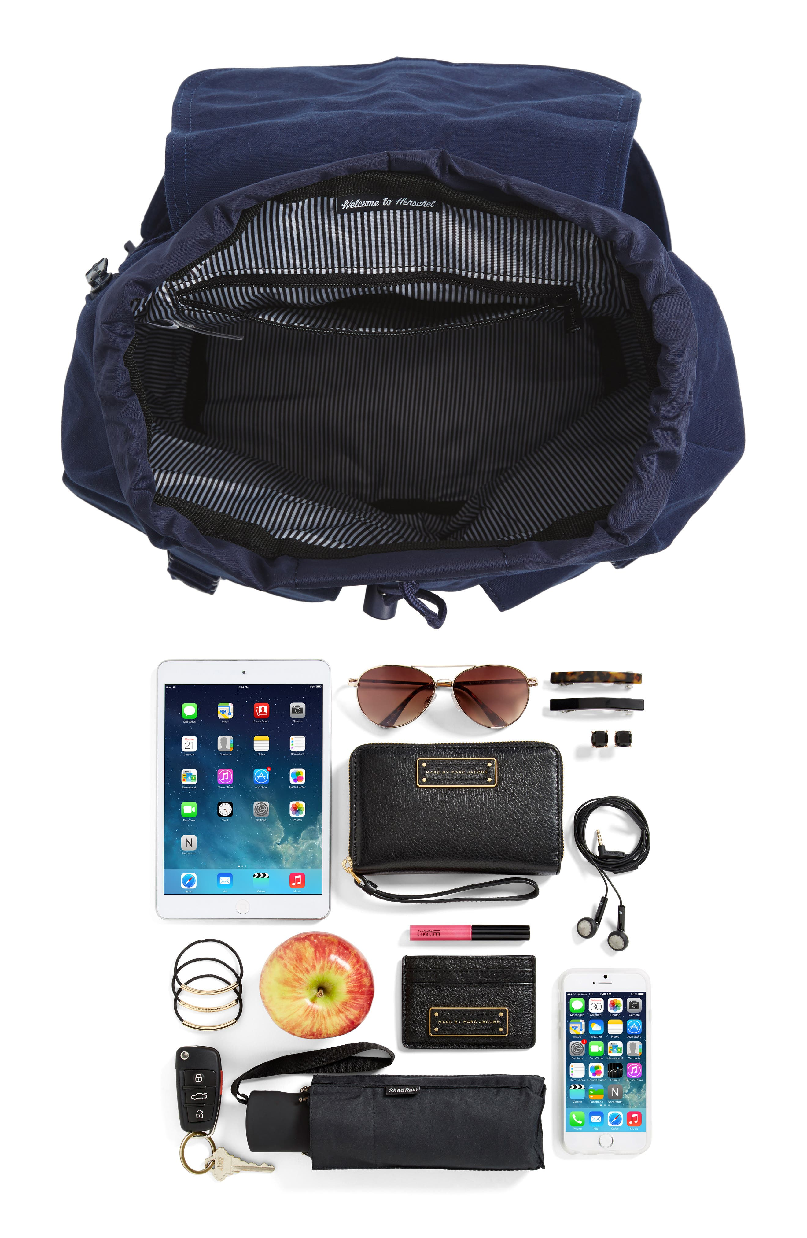 X-Small Dawson Canvas Backpack,                             Alternate thumbnail 7, color,                             PEACOAT