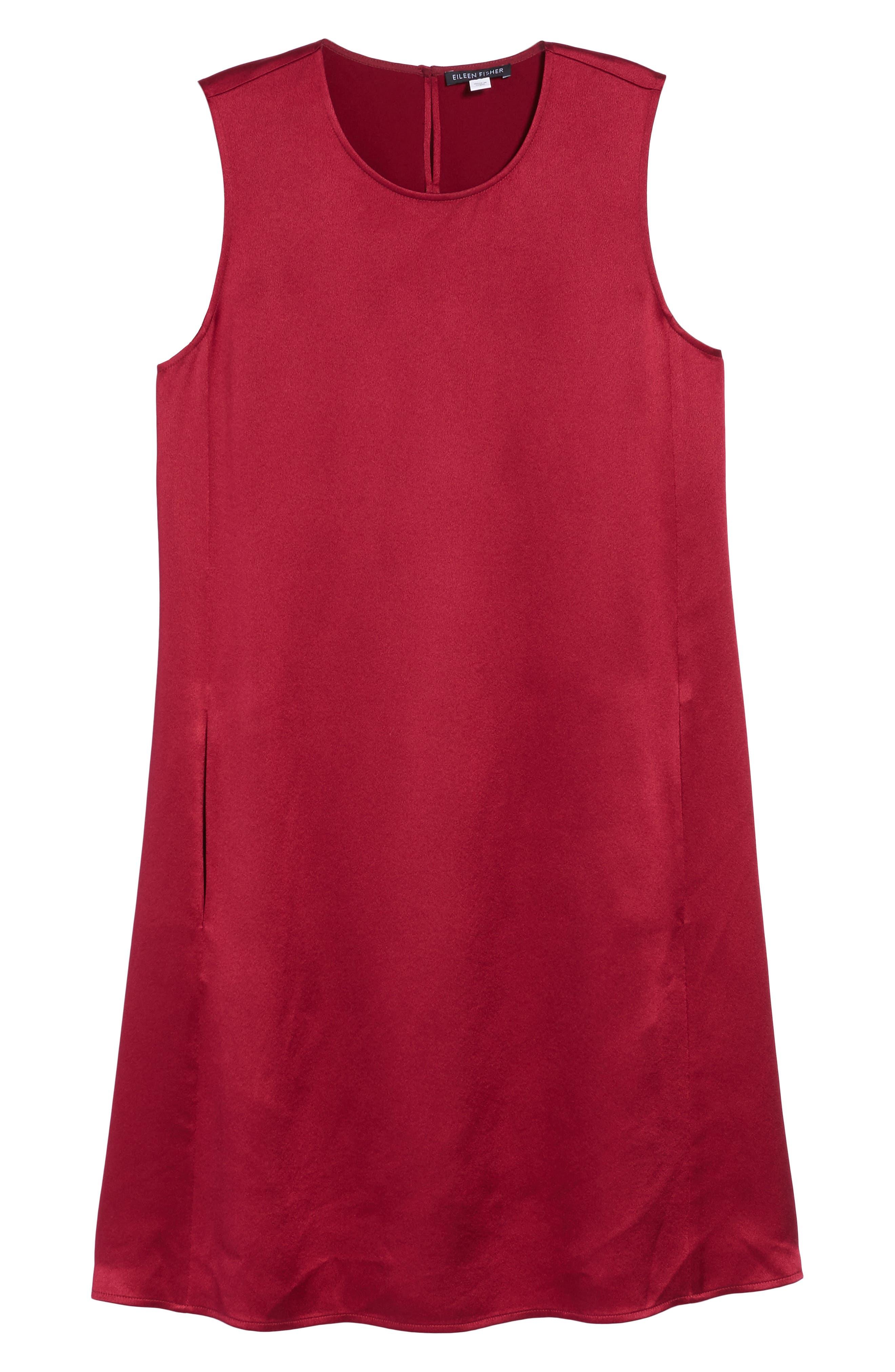 Silk Shift Dress,                             Alternate thumbnail 18, color,