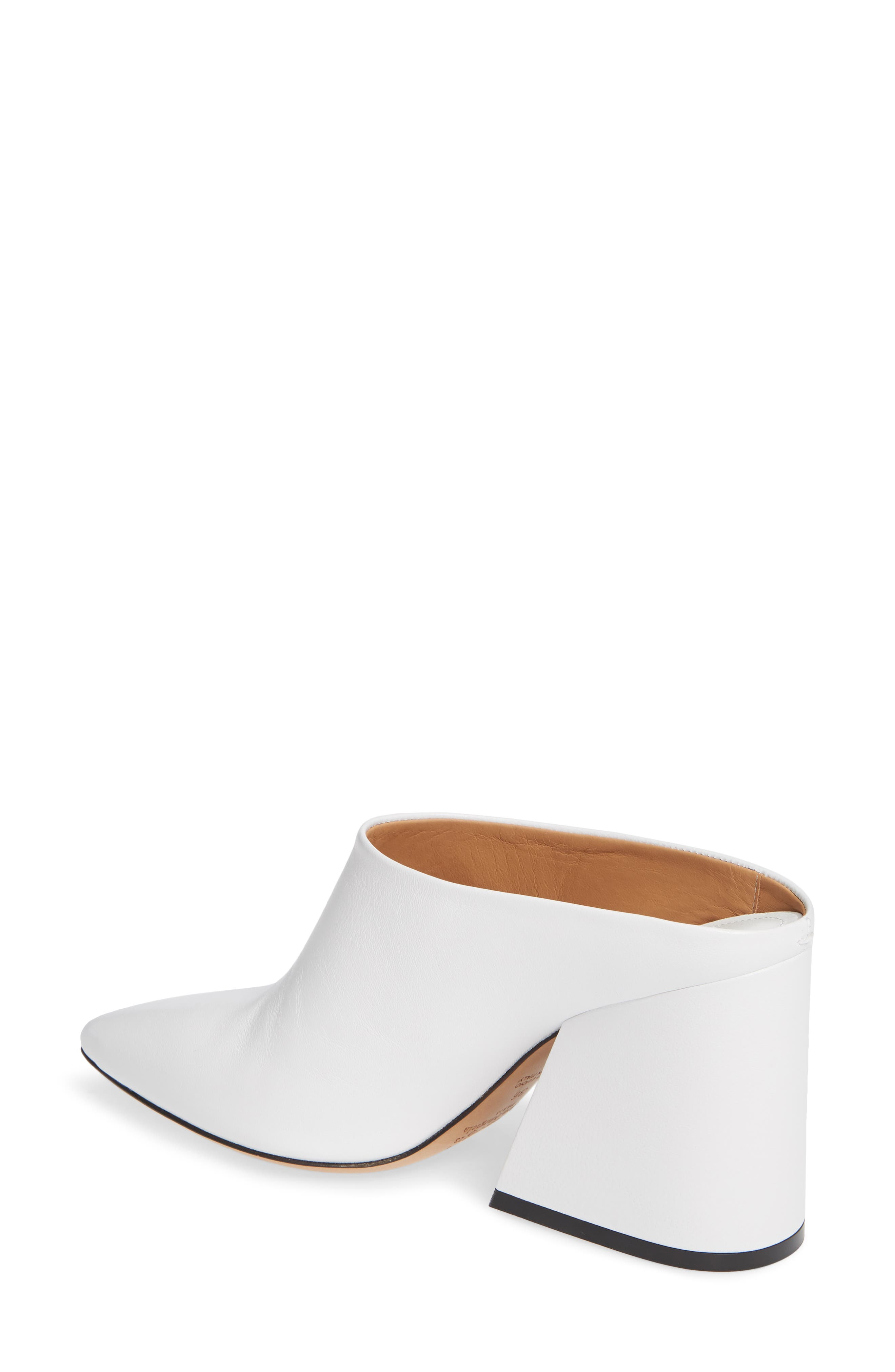 Pointy Toe Mule,                             Alternate thumbnail 2, color,                             WHITE