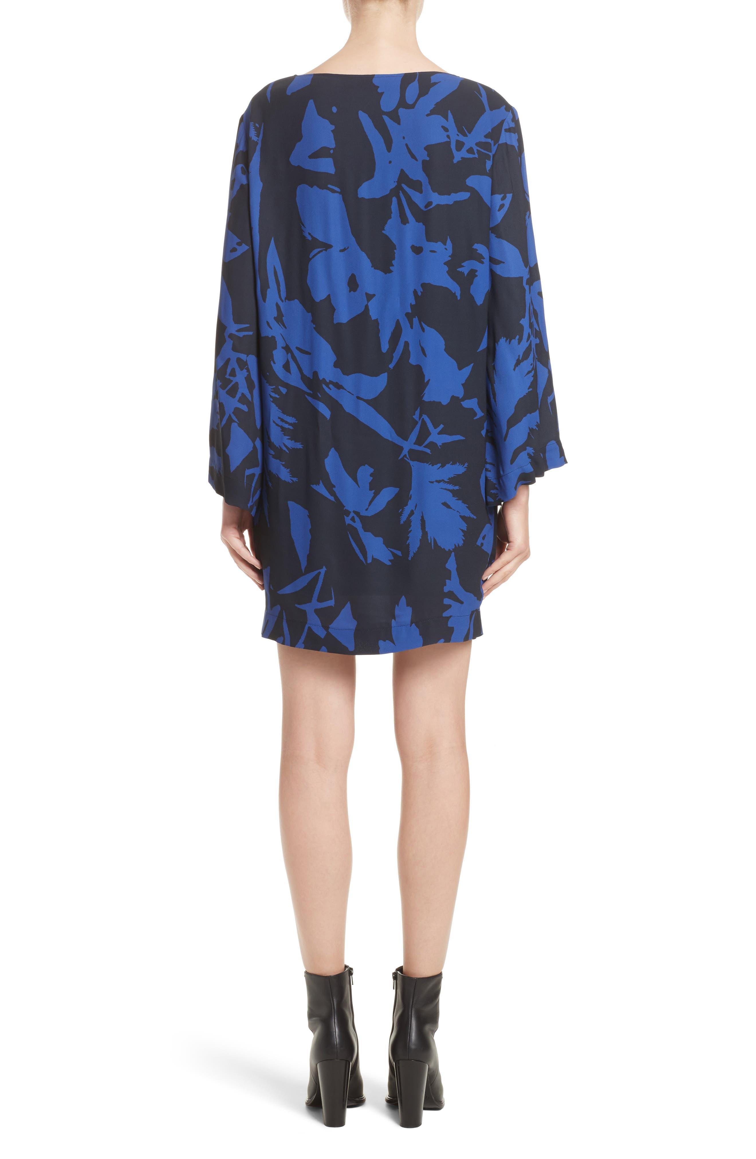 Floral Crepe Bell Sleeve Dress,                             Alternate thumbnail 2, color,                             410