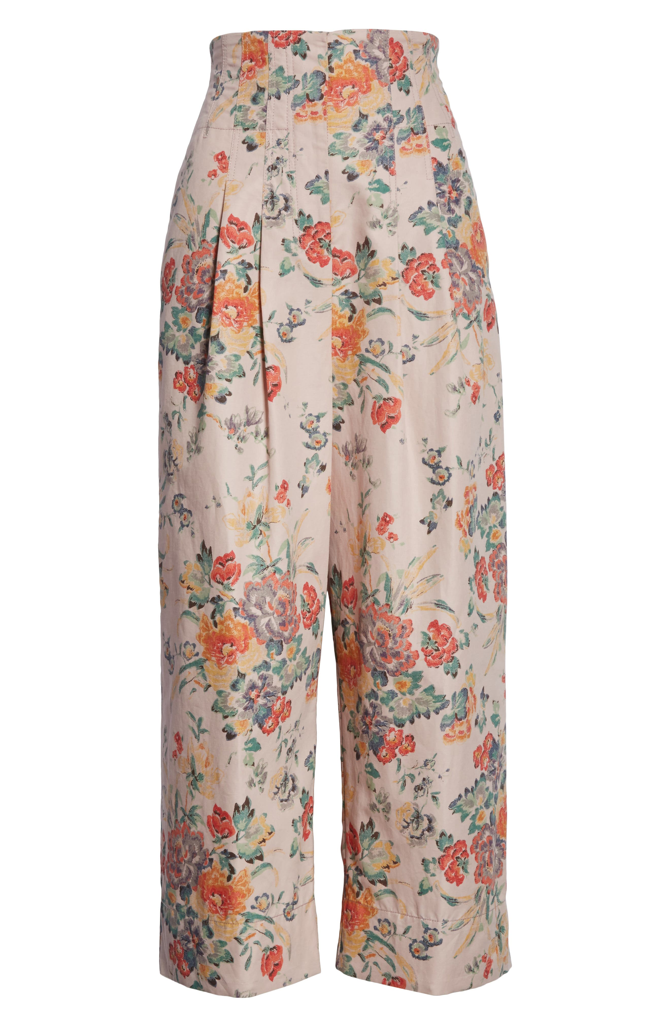 Marlena Floral Crop Pants,                             Alternate thumbnail 6, color,