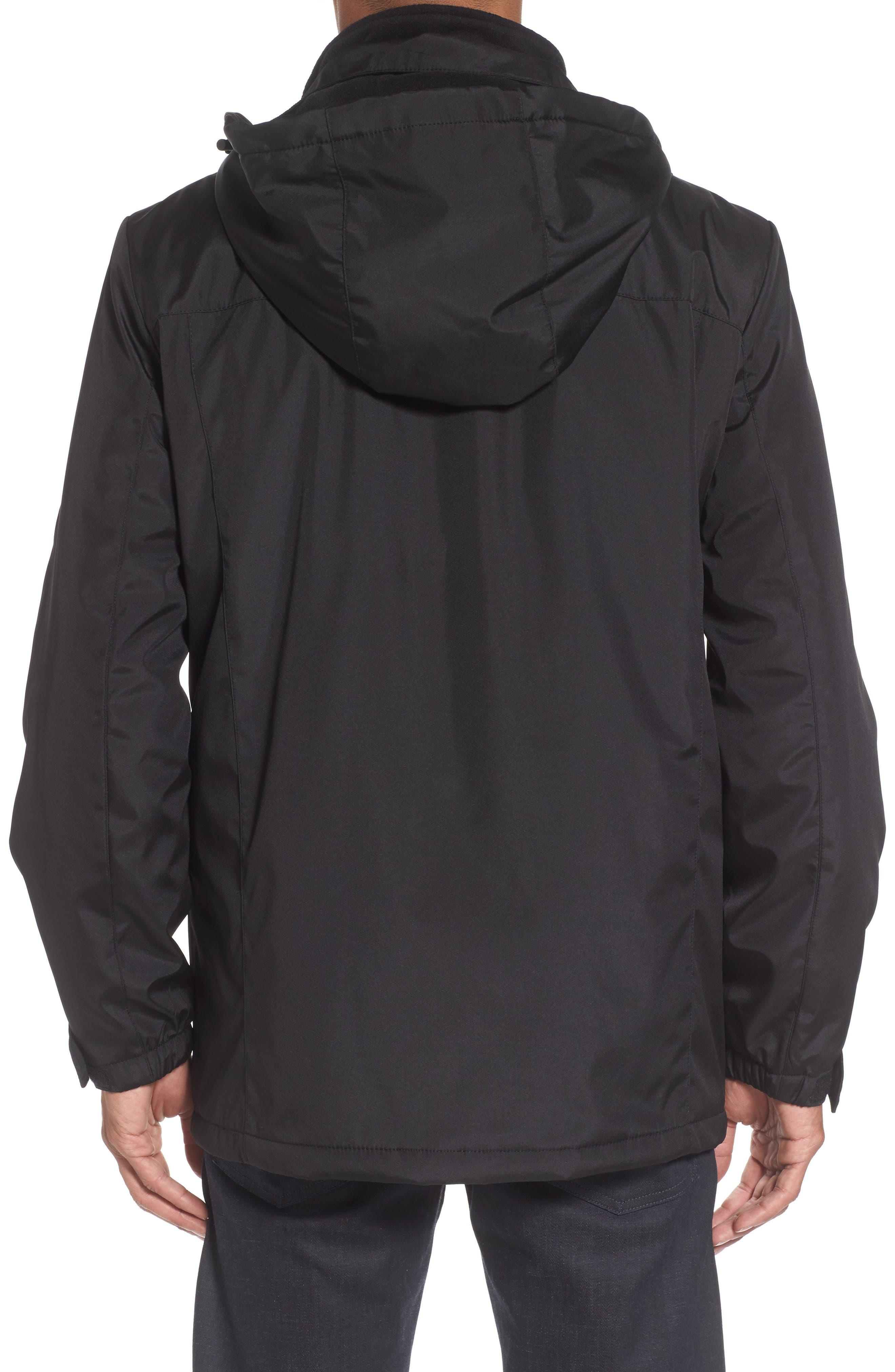 Hooded Jacket with Inset Fleece Bib,                             Alternate thumbnail 2, color,                             001