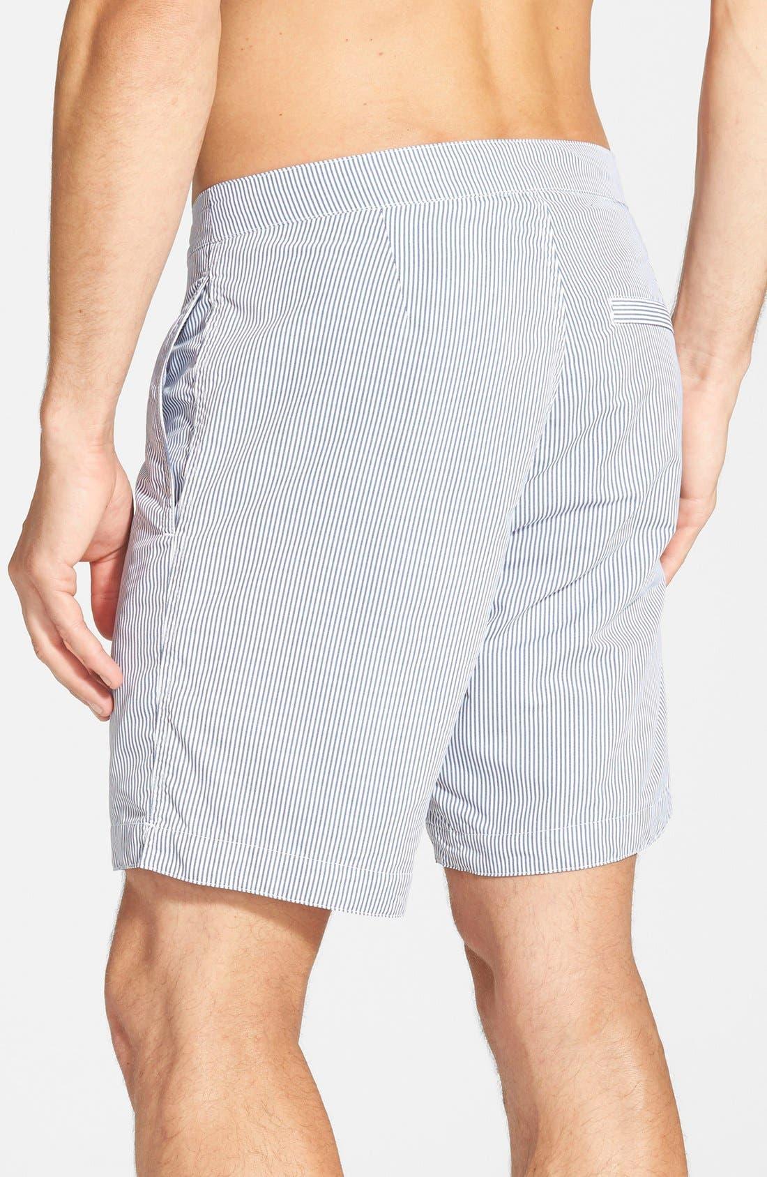 'Aruba - Stripe' Tailored Fit 8.5 Inch Board Shorts,                             Alternate thumbnail 2, color,                             STRIPED ANCHOR GREY